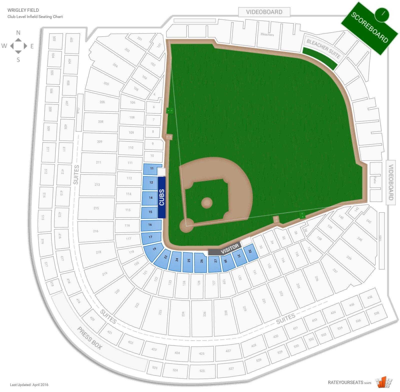 Image Result For Cubs Interactive Seat Map