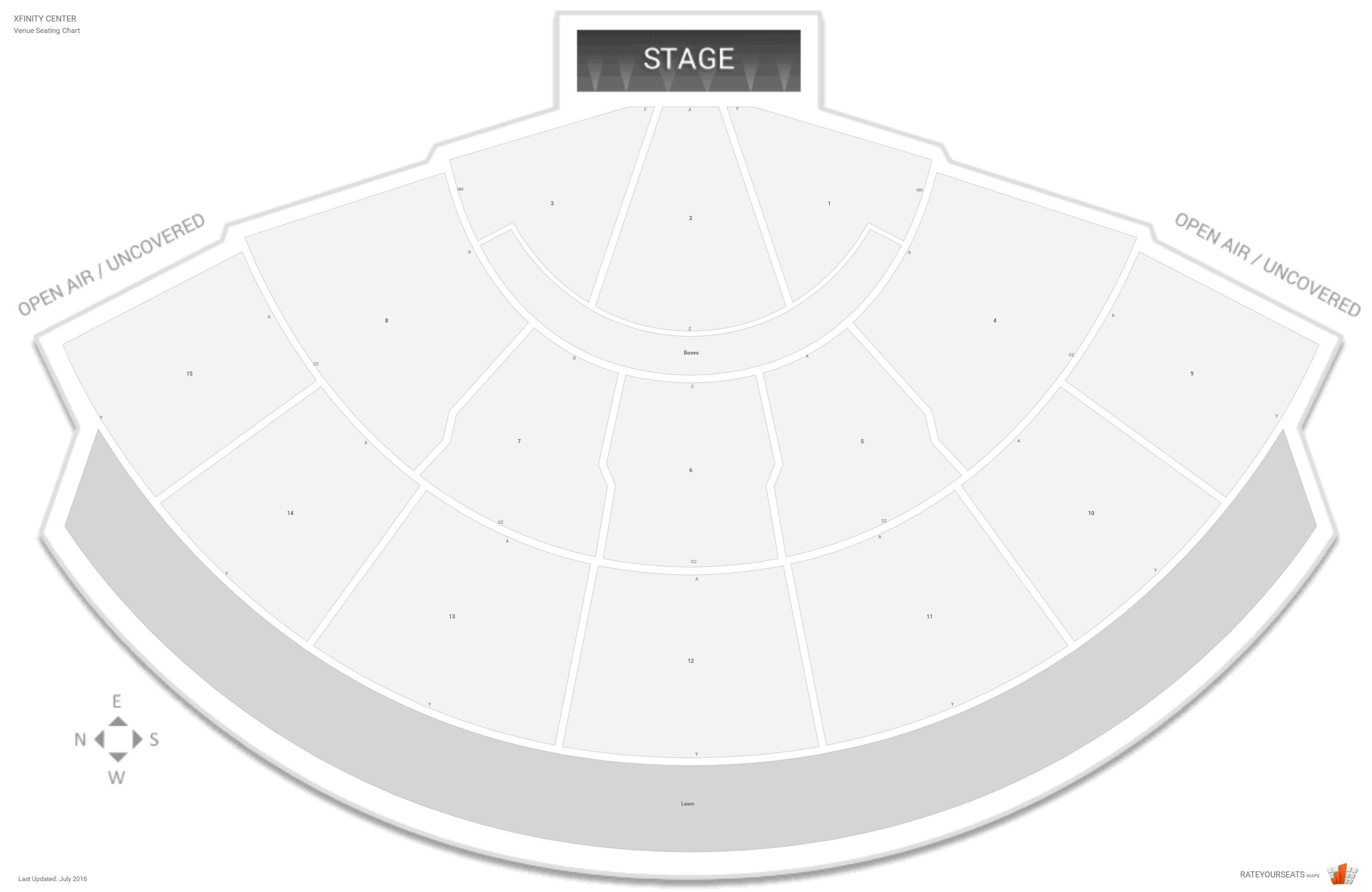 Xfinity Center Seating Guide