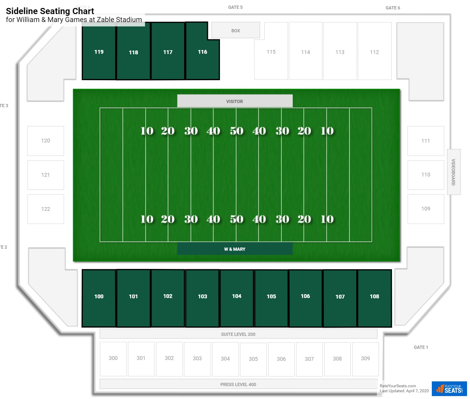 Zable Stadium William Mary Seating Guide Rateyourseats Com