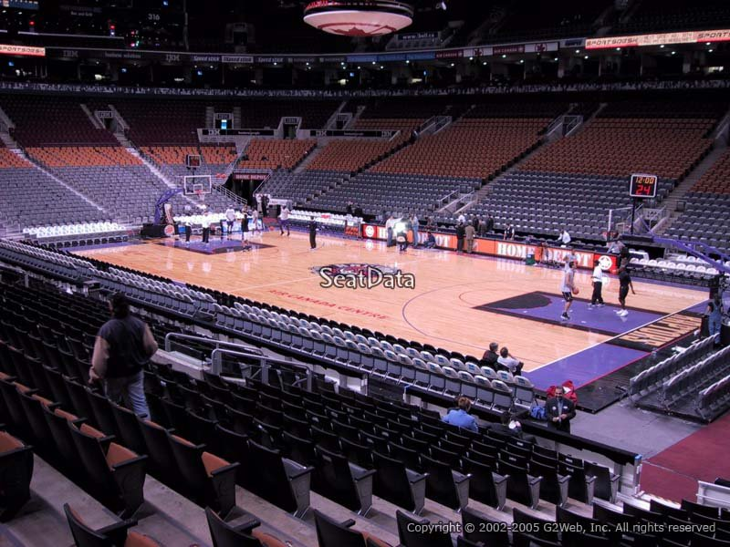 Toronto Raptors Seat View for Scotiabank Arena Section 106