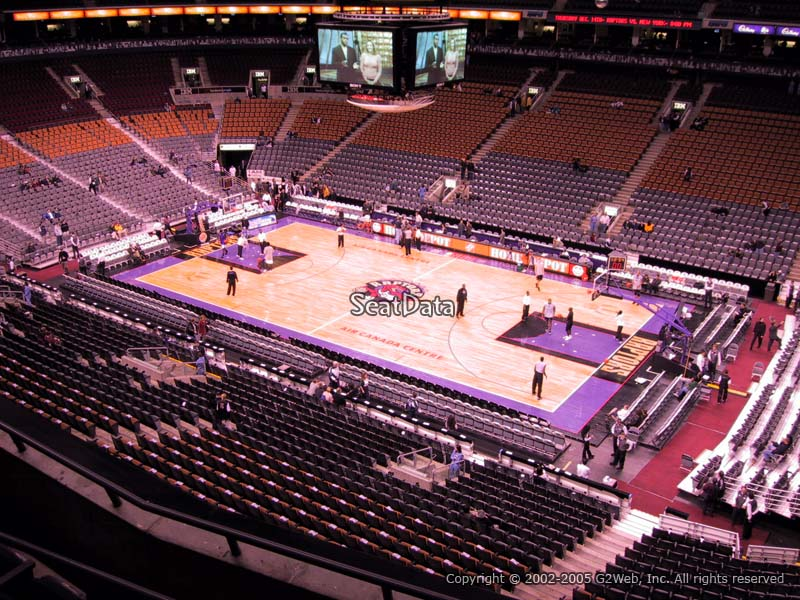 Toronto Raptors Seat View for Air Canada Centre Section 307