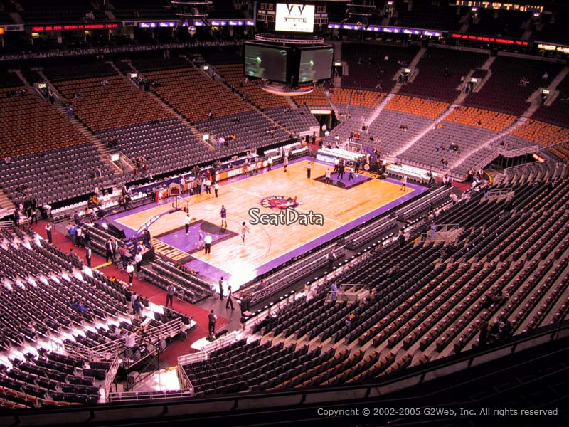 Toronto Raptors Seat View for Air Canada Centre Section 312
