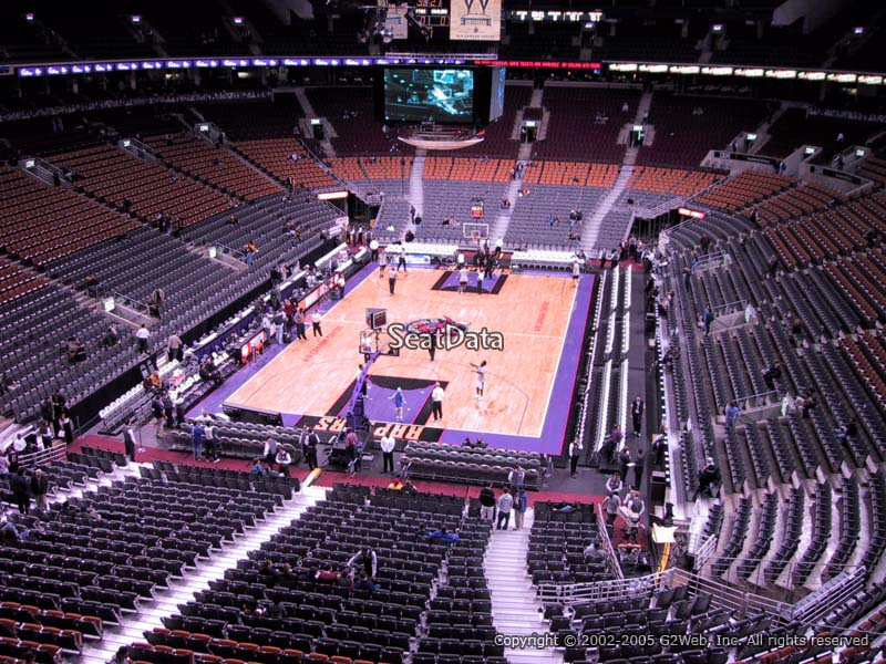 Toronto Raptors Seat View for Air Canada Centre Section 314