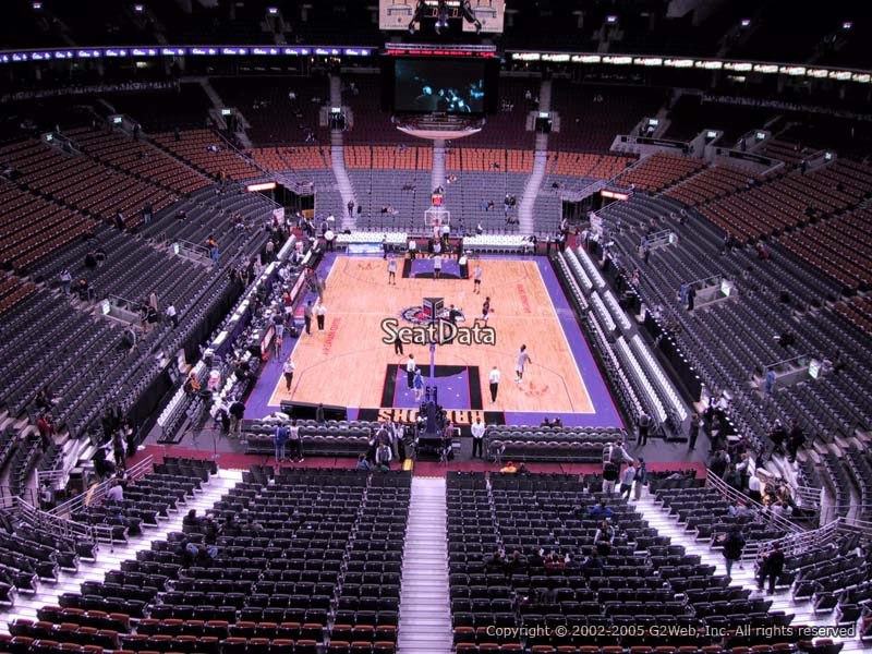 Toronto Raptors Seat View for Air Canada Centre Section 315