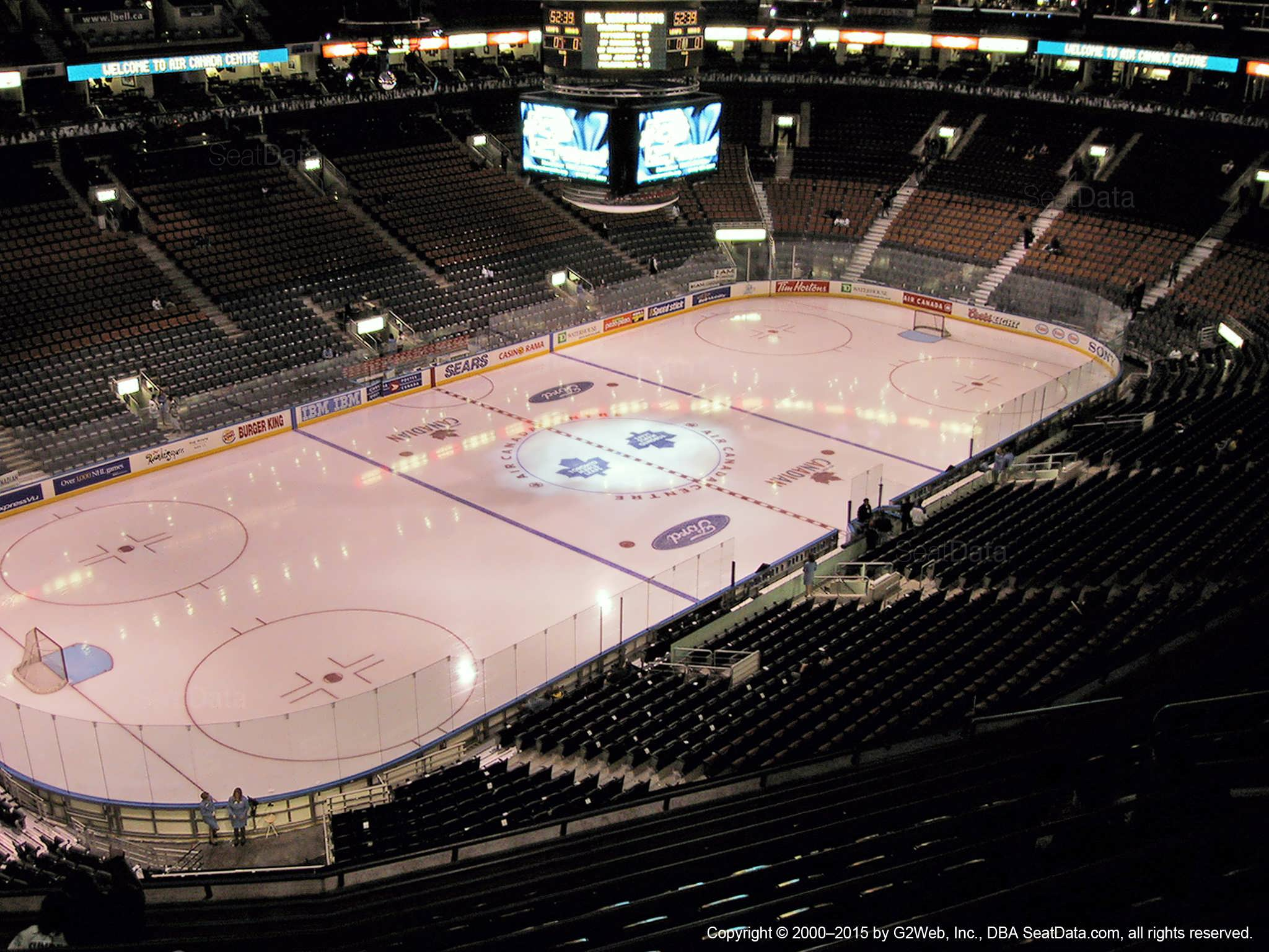Toronto Maple Leafs Seat View for Scotiabank Arena Section 324