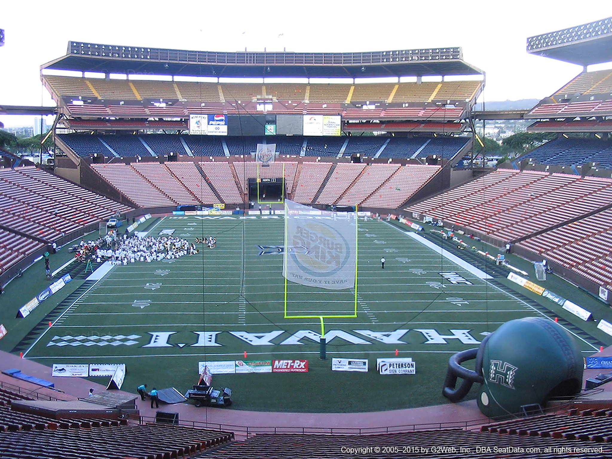 Seat View for Aloha Stadium Blue A