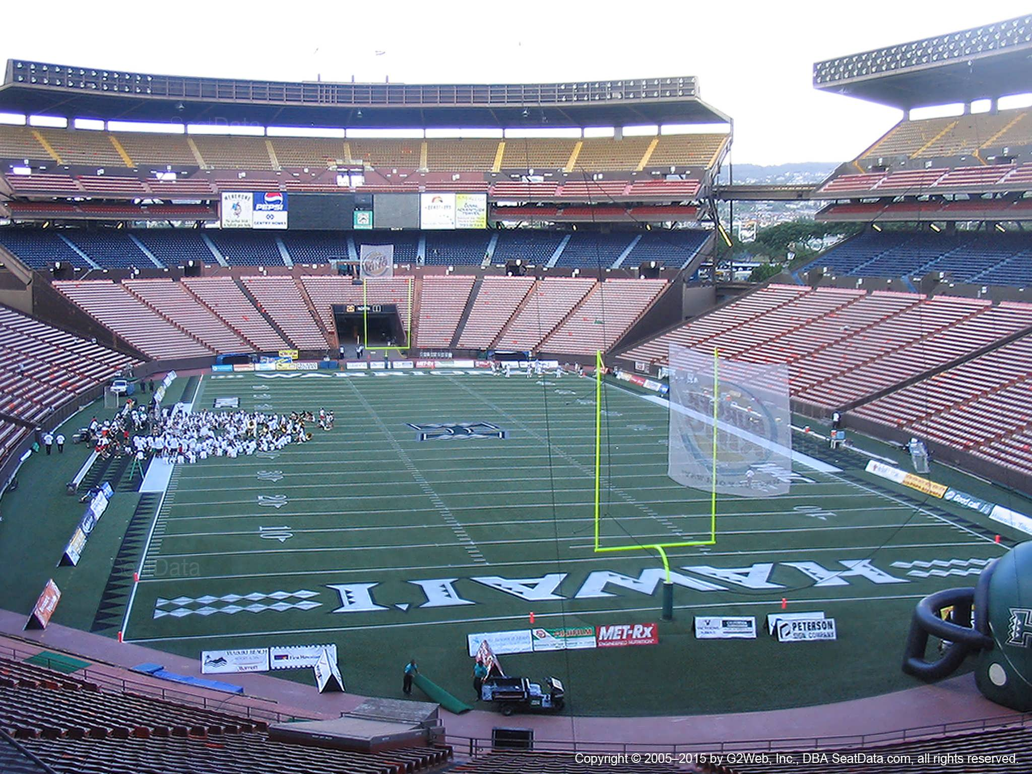Seat View for Aloha Stadium Blue B