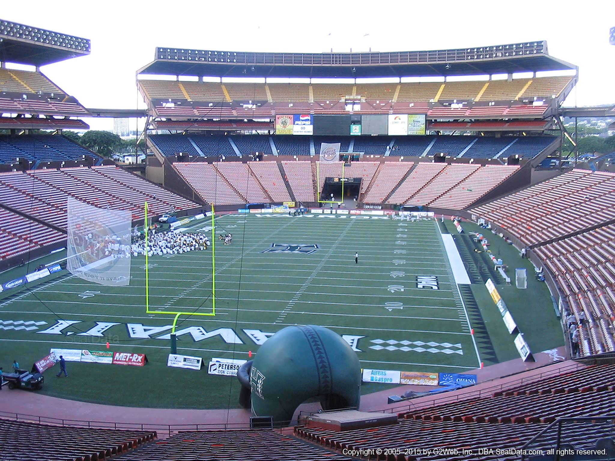Seat View for Aloha Stadium Blue BB