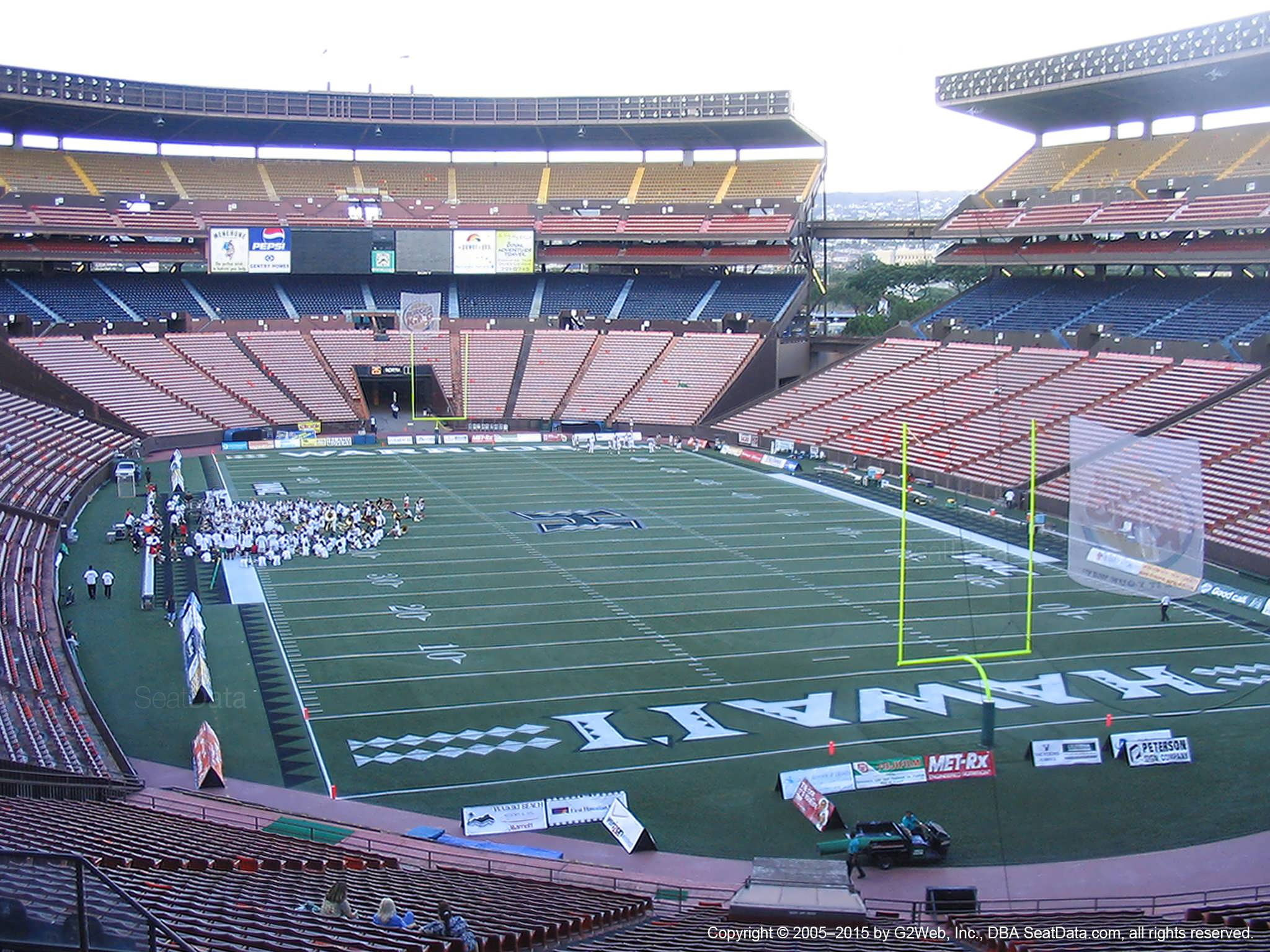 Seat View for Aloha Stadium Blue C