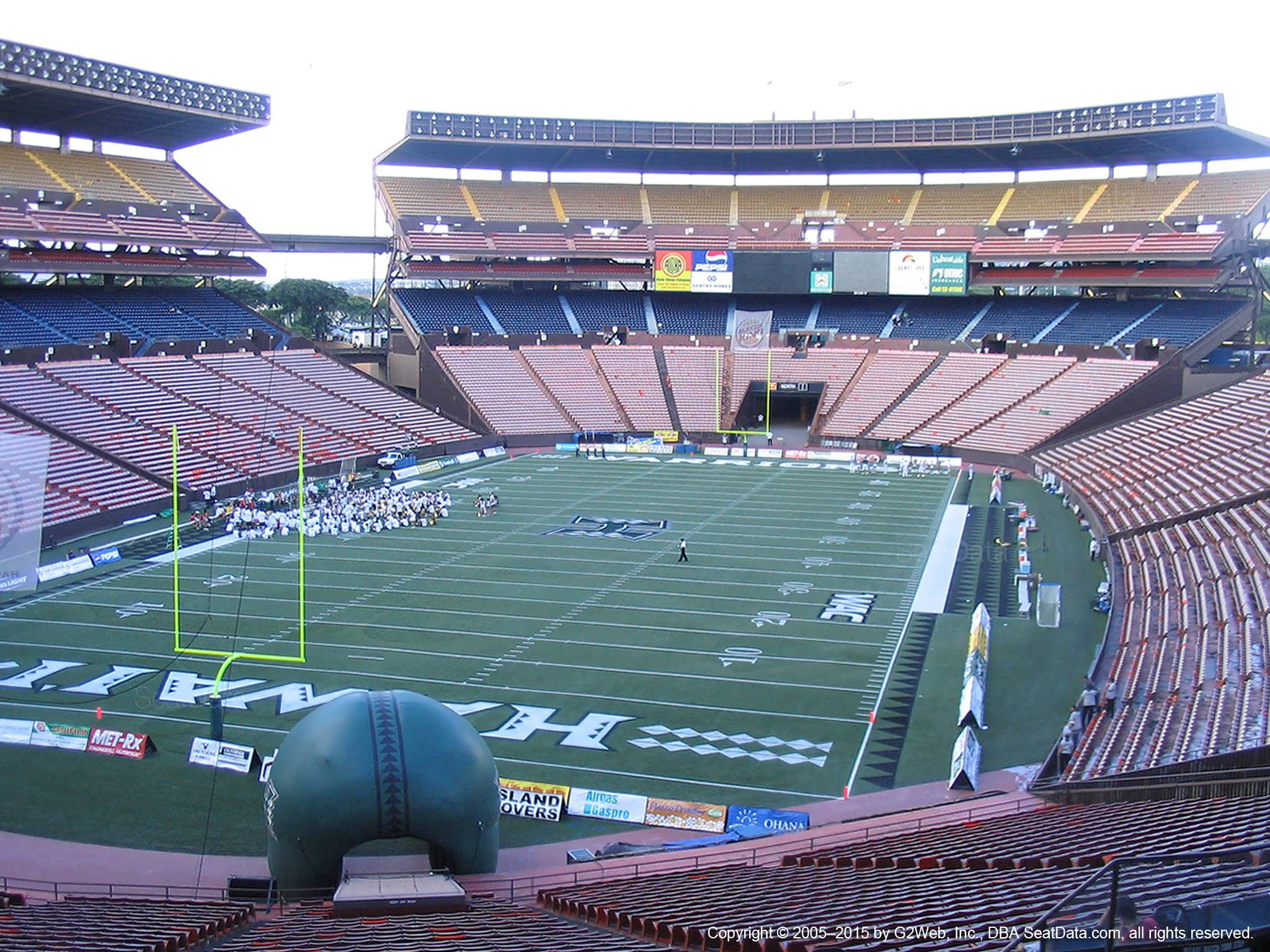 Seat View for Aloha Stadium Blue CC
