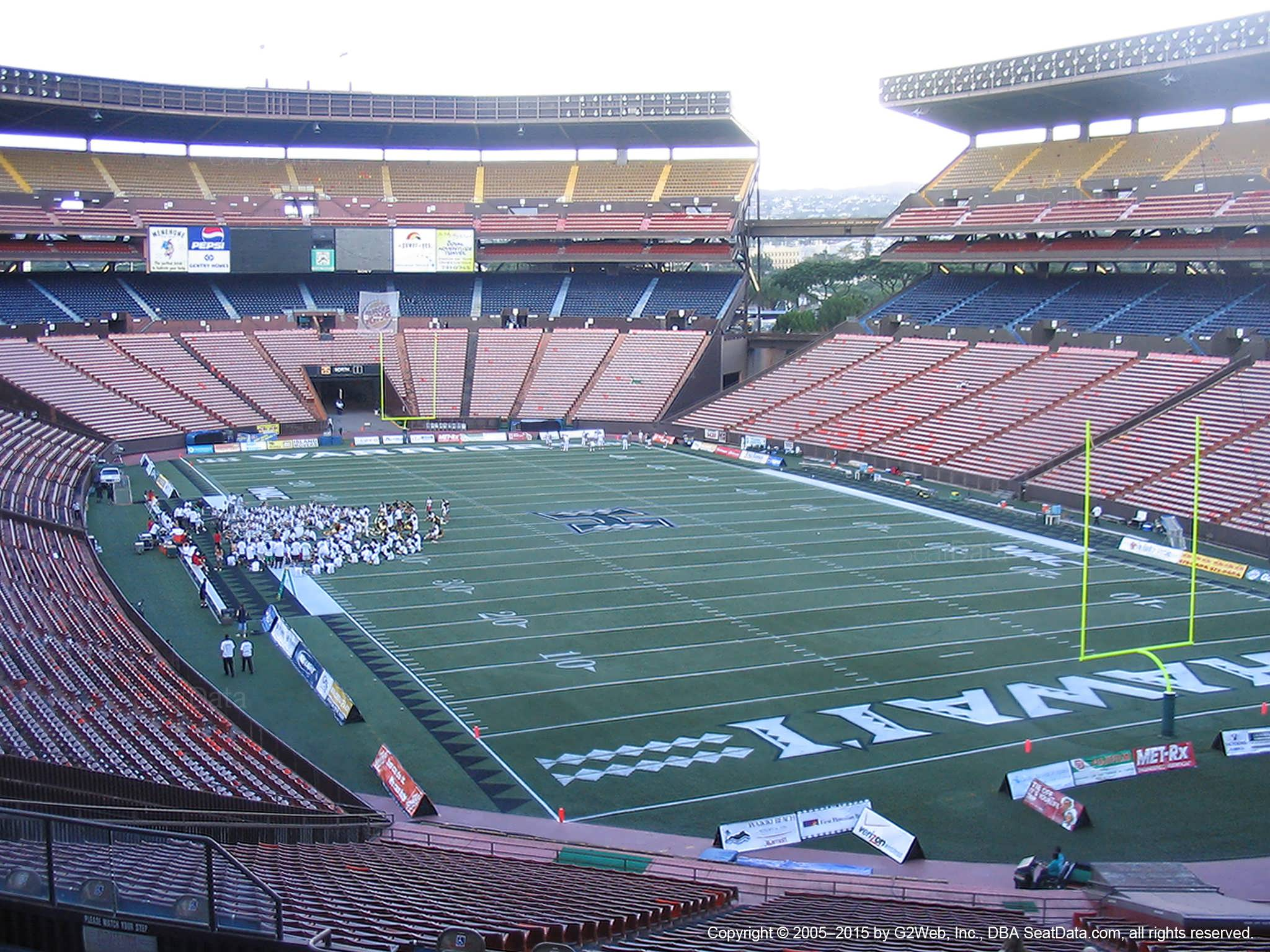 Seat View for Aloha Stadium Blue D
