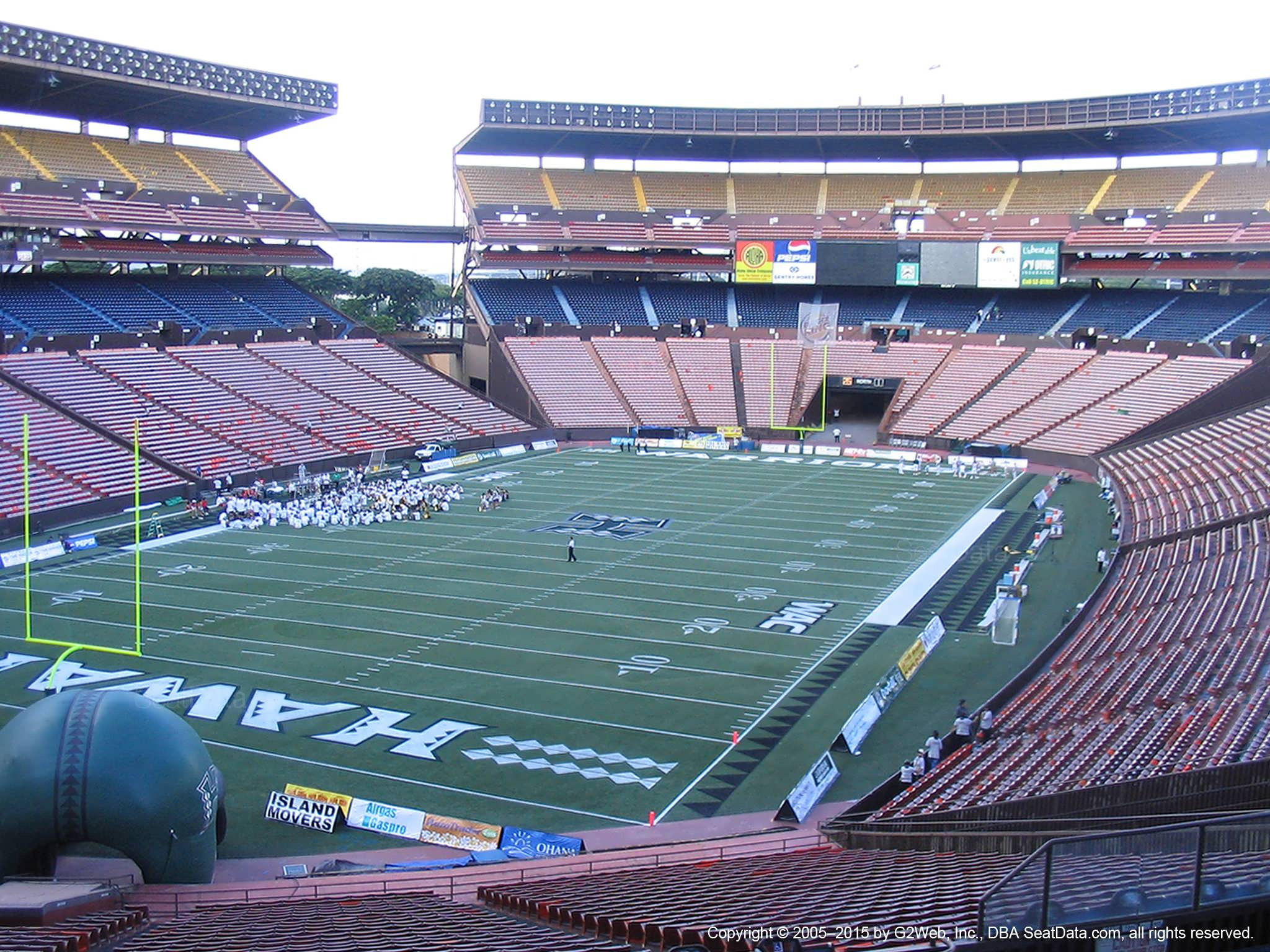 Seat View for Aloha Stadium Blue DD