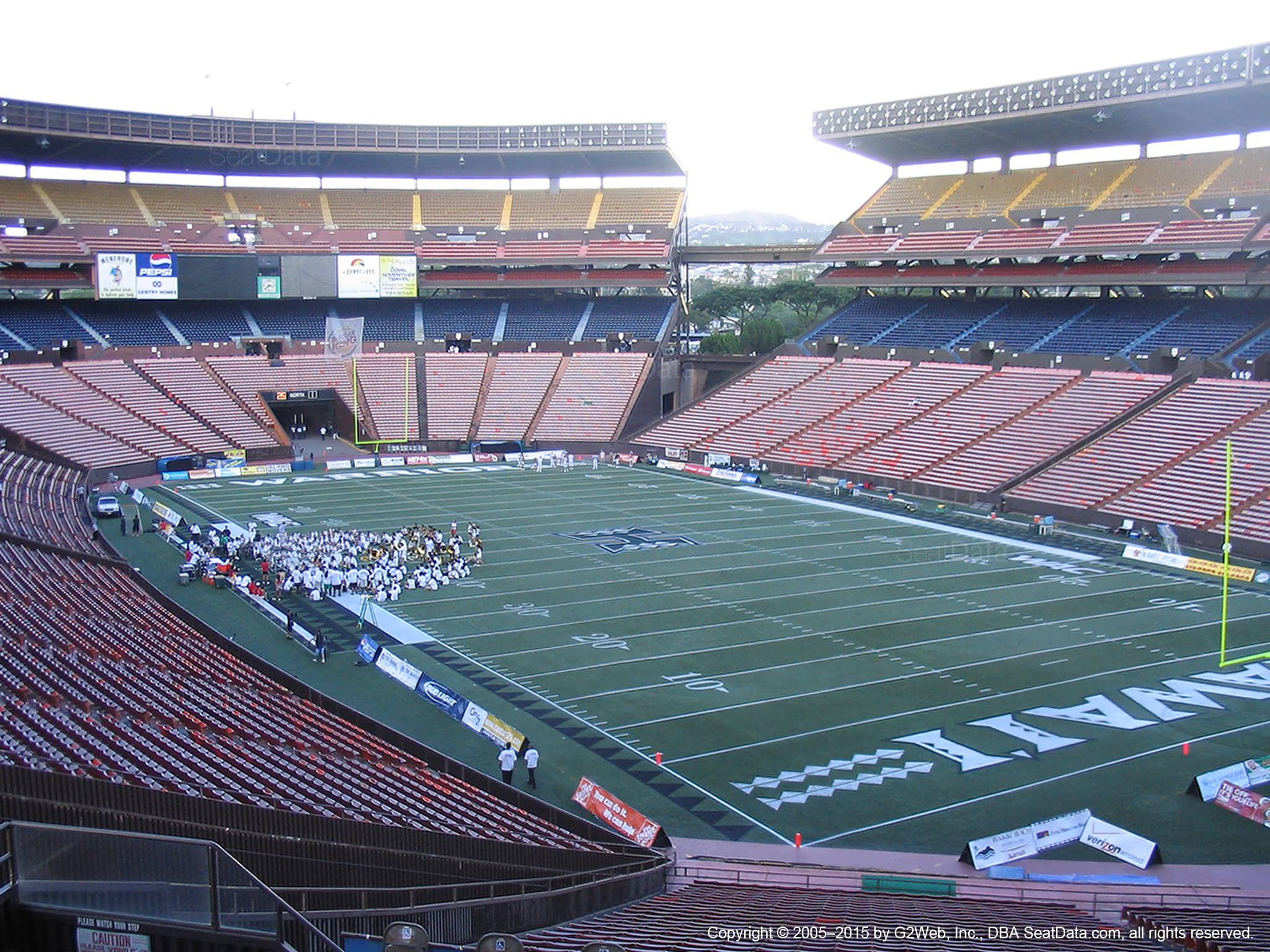Seat View for Aloha Stadium Blue E