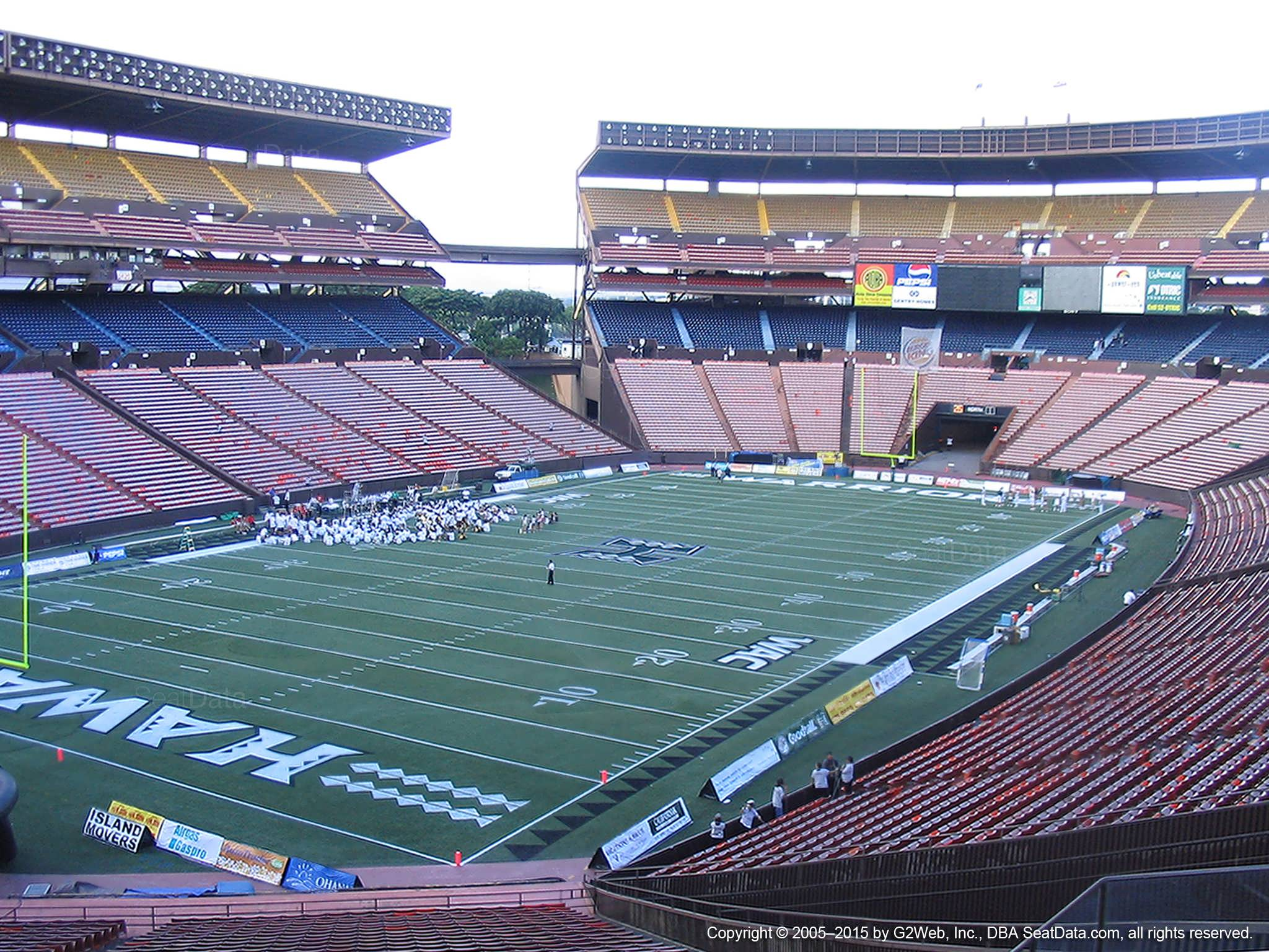 Seat View for Aloha Stadium Blue EE