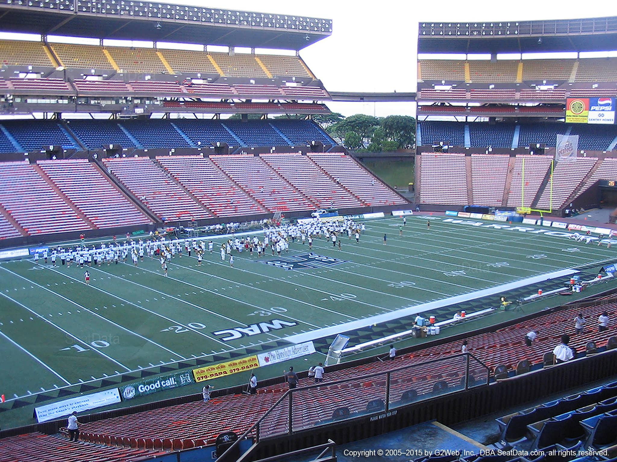 Seat View for Aloha Stadium Blue FF