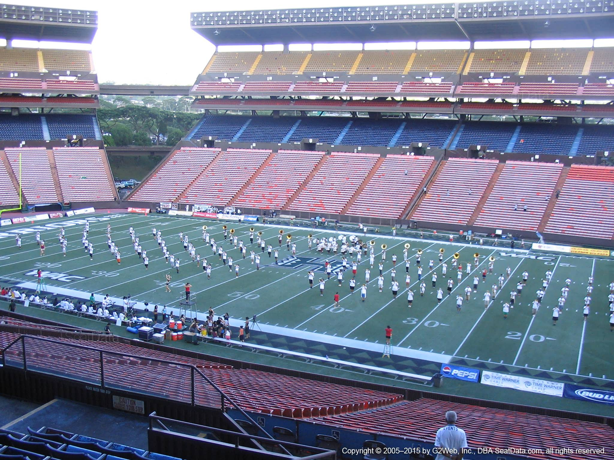 Seat View for Aloha Stadium Blue H