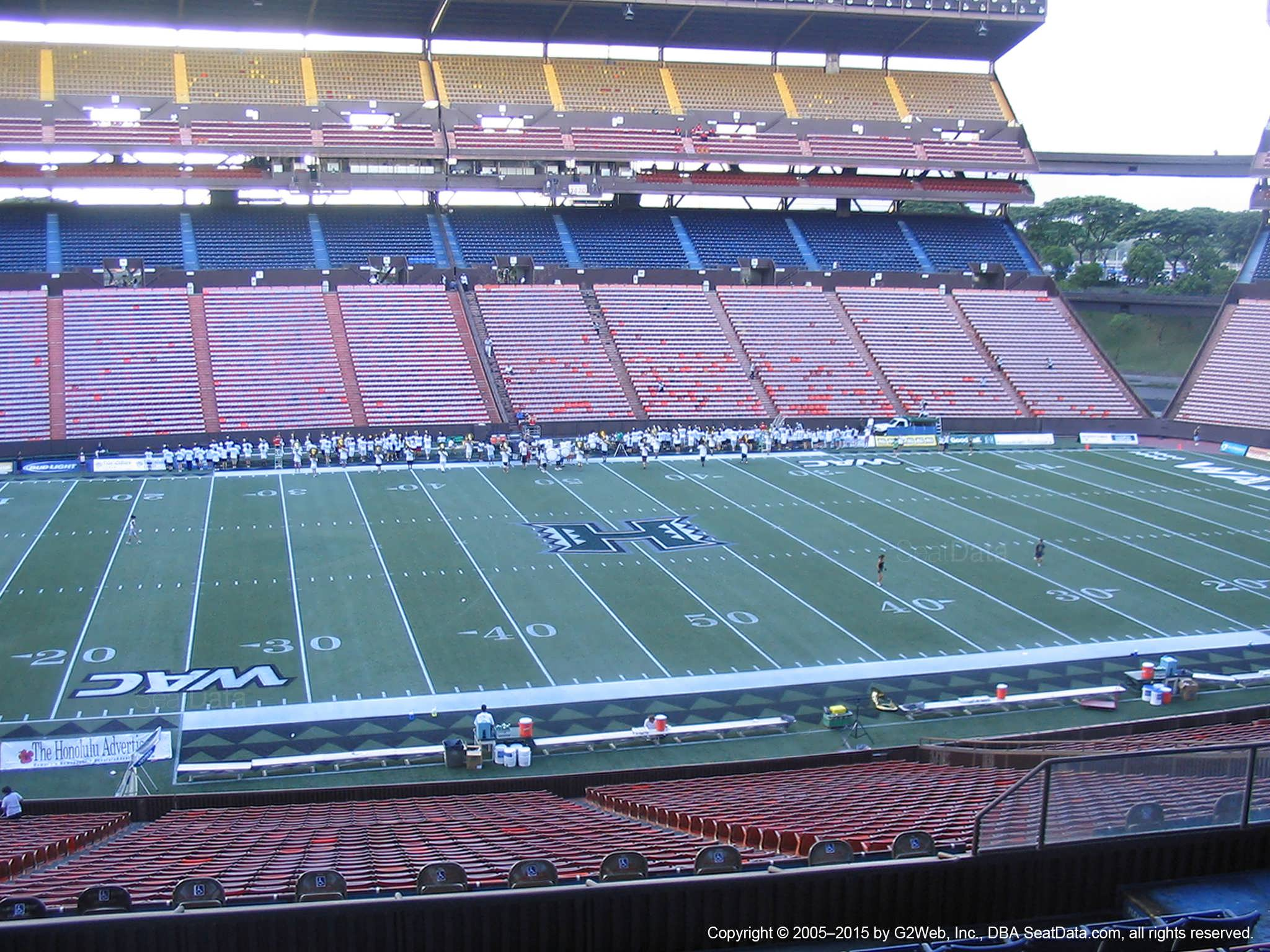 Seat View for Aloha Stadium Blue JJ