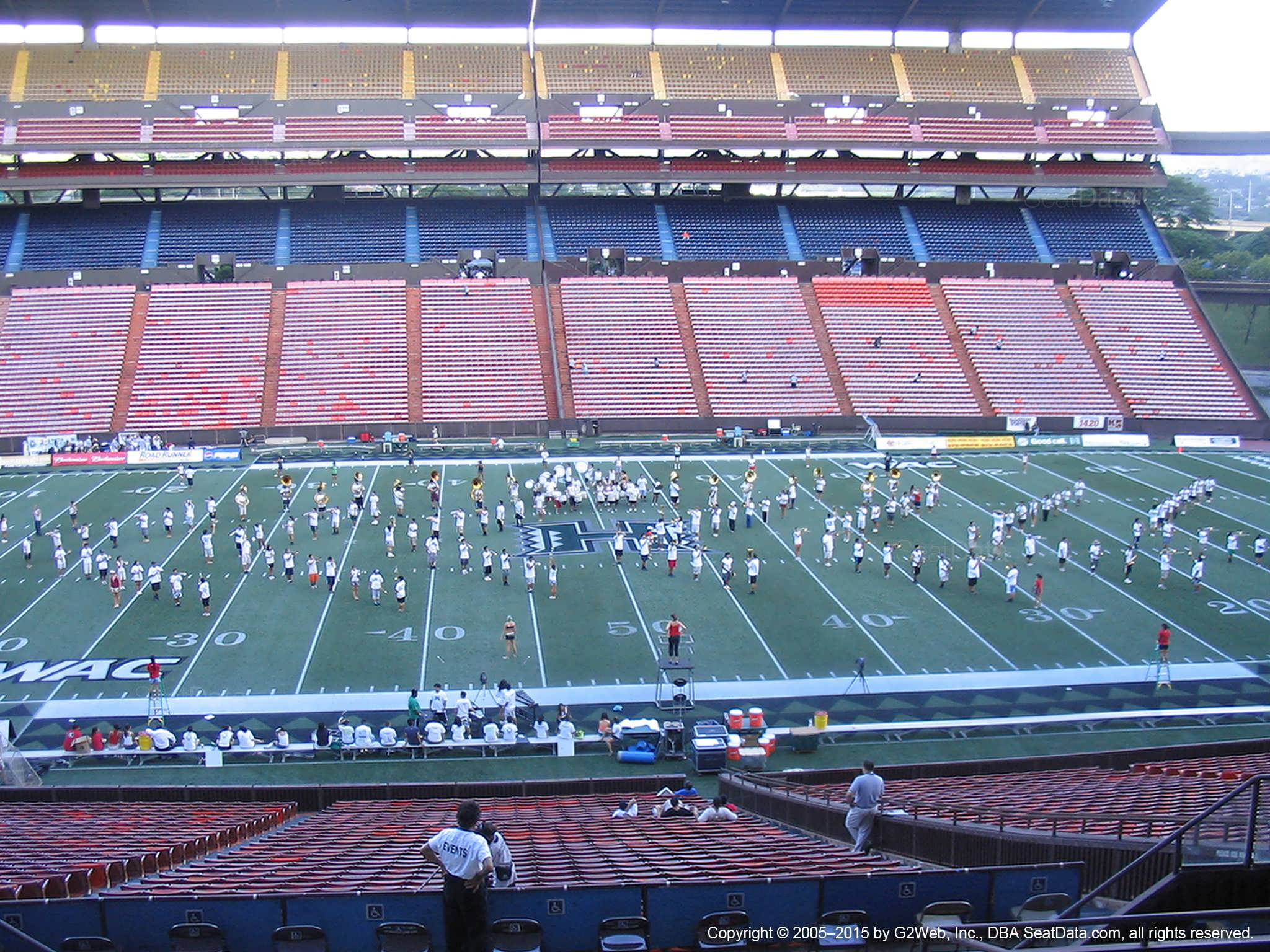 Seat View for Aloha Stadium Blue L