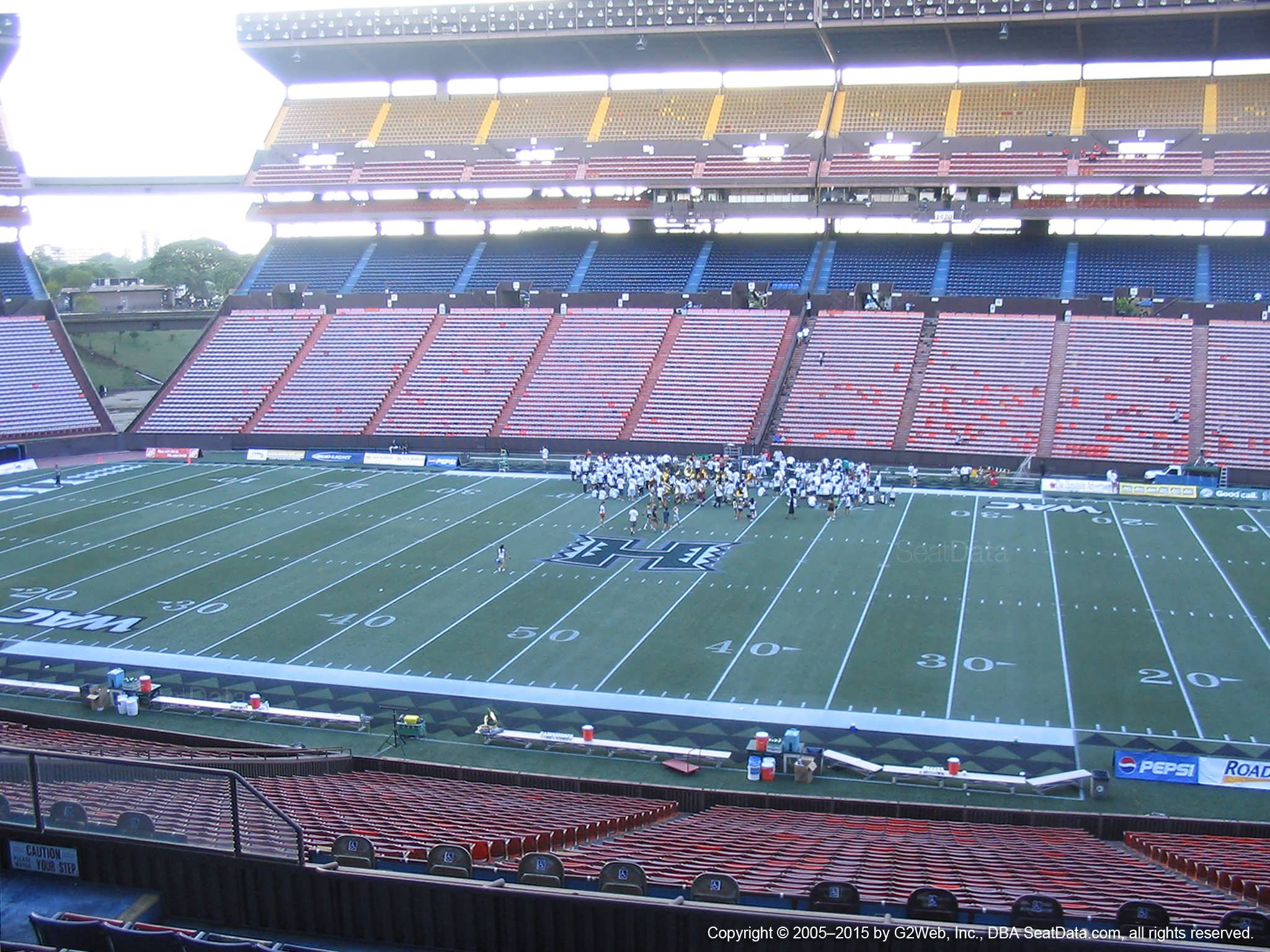 Seat View for Aloha Stadium Blue MM