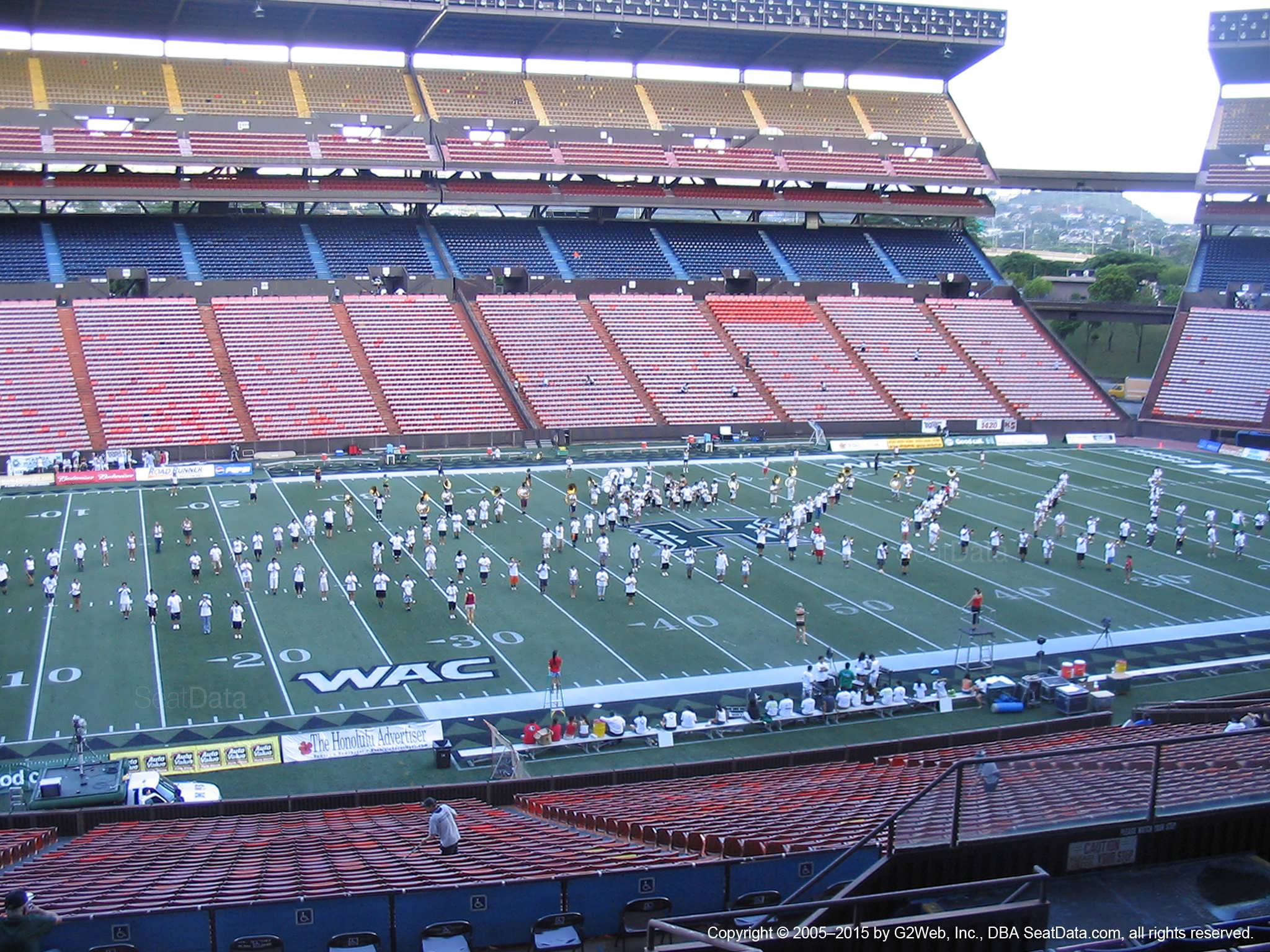 Seat View for Aloha Stadium Blue N