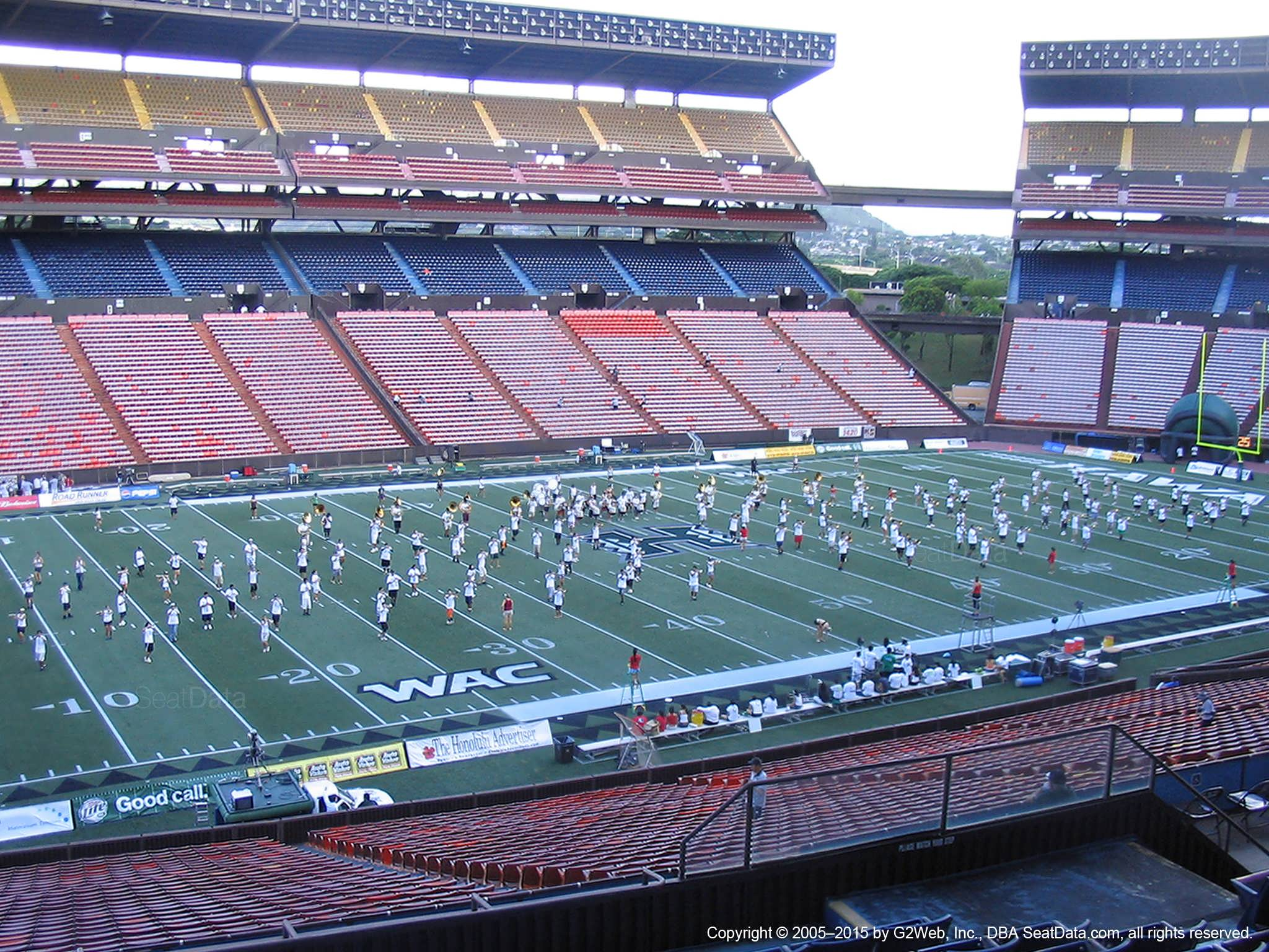 Seat View for Aloha Stadium Blue P