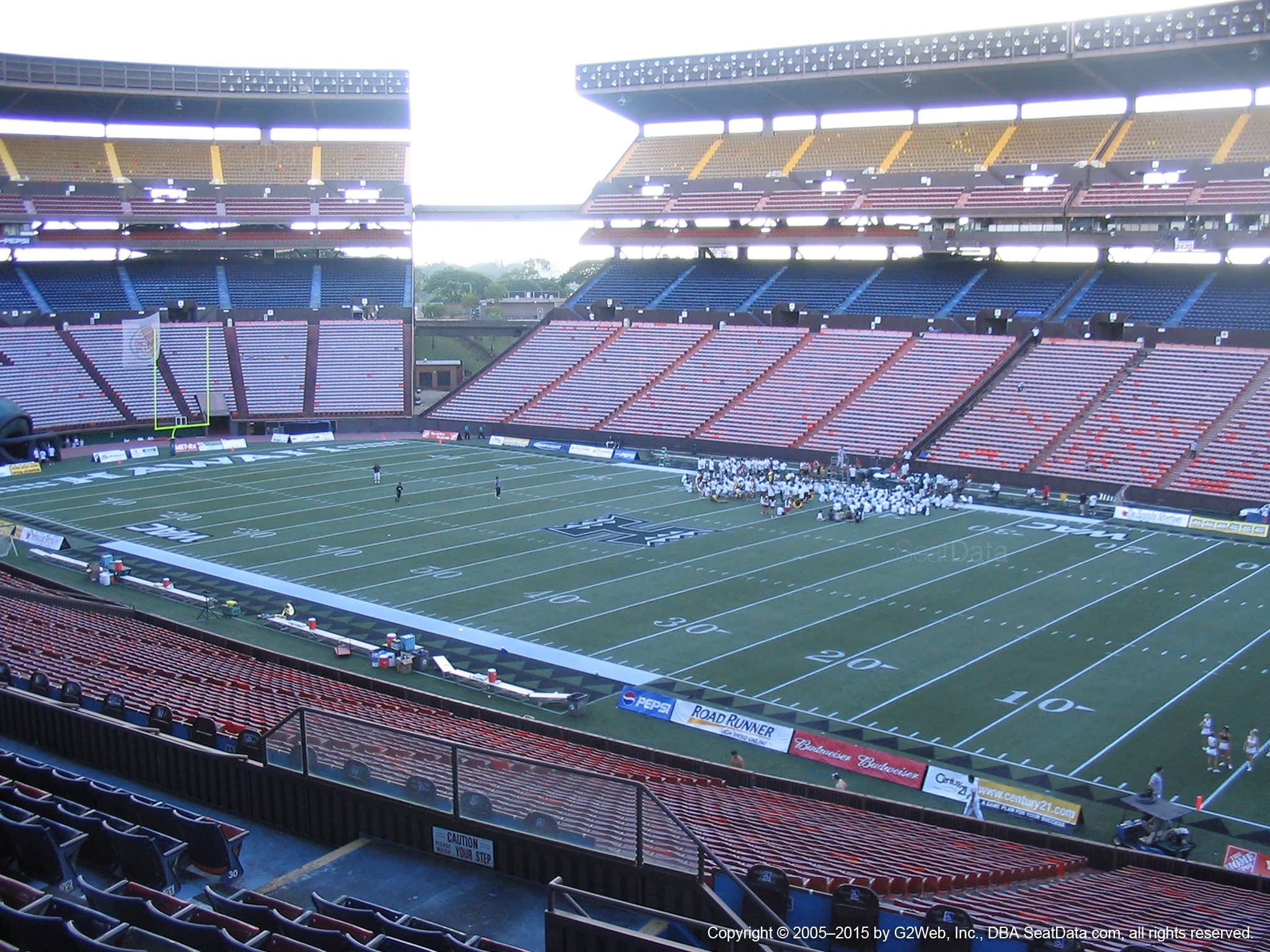 Seat View for Aloha Stadium Blue QQ