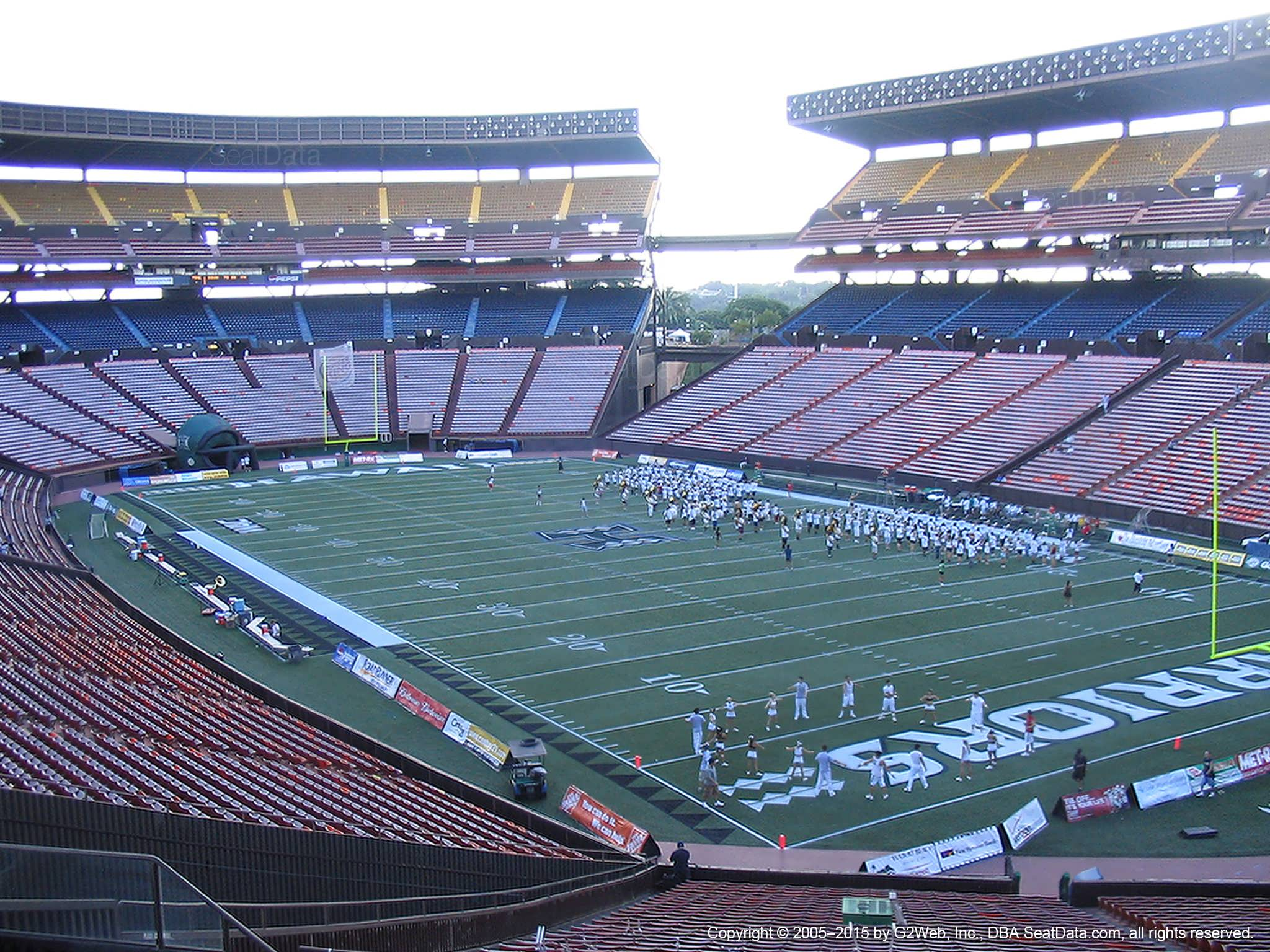 Seat View for Aloha Stadium Blue RR