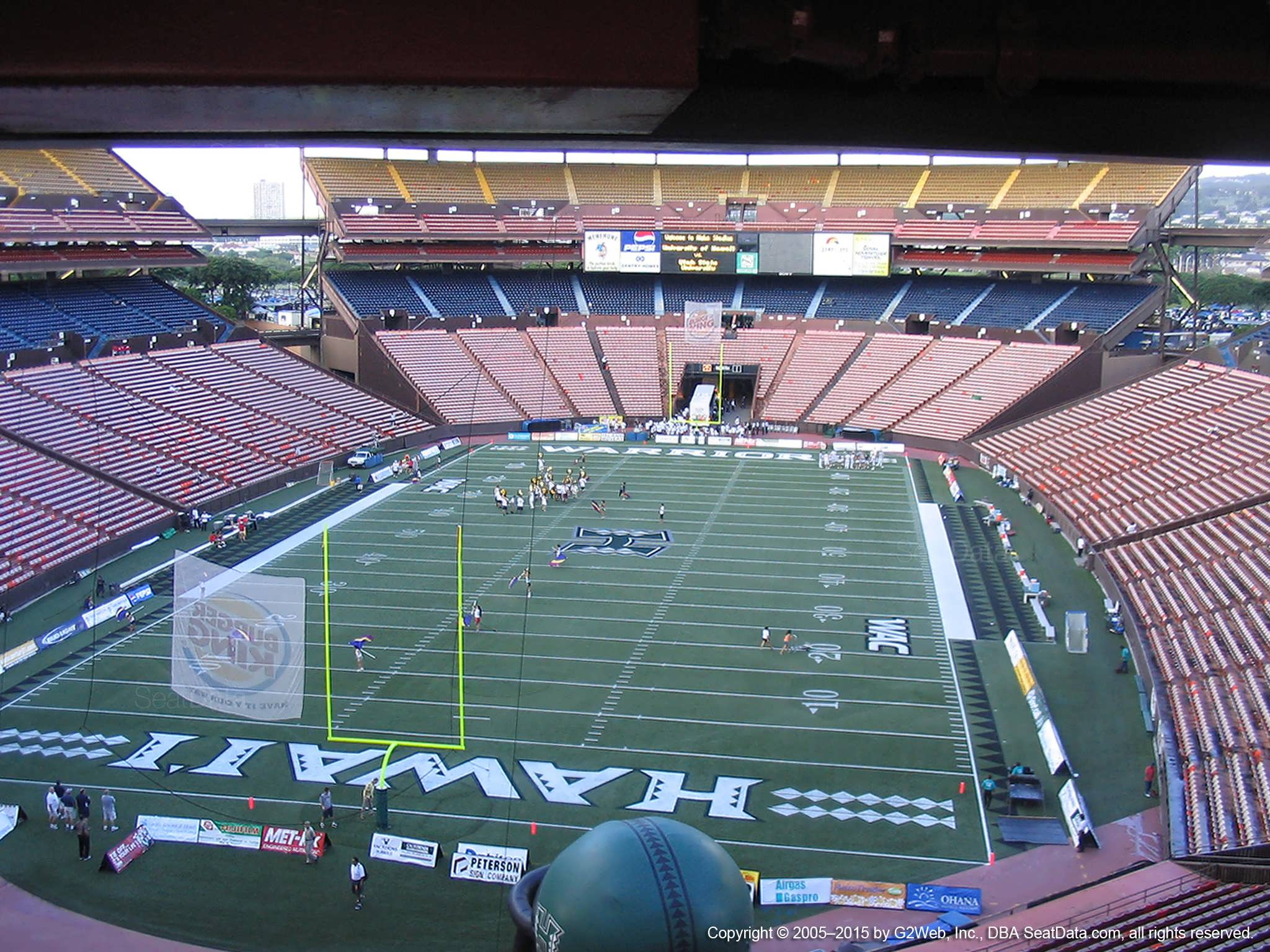 Seat View for Aloha Stadium Brown BB