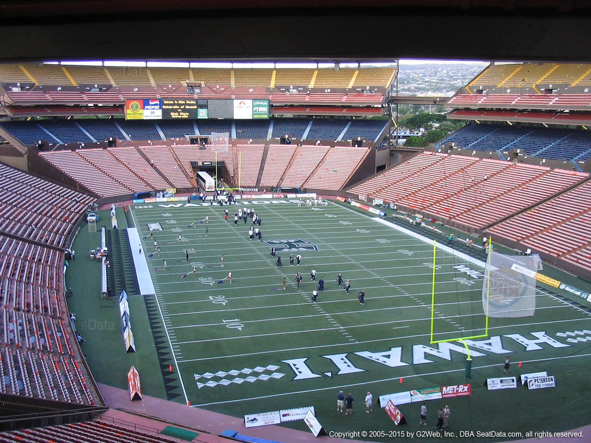 Seat View for Aloha Stadium Brown C