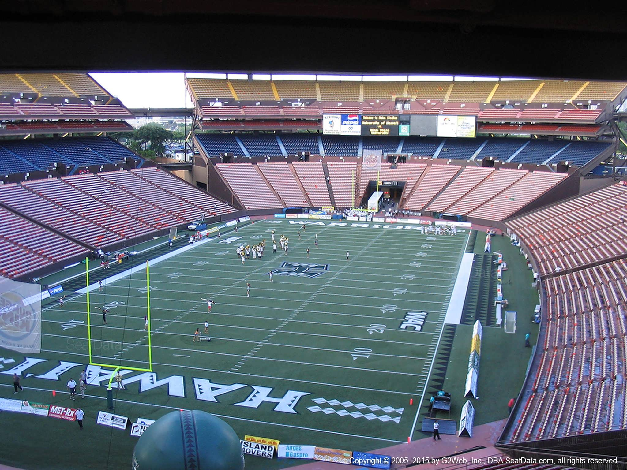 Seat View for Aloha Stadium Brown CC