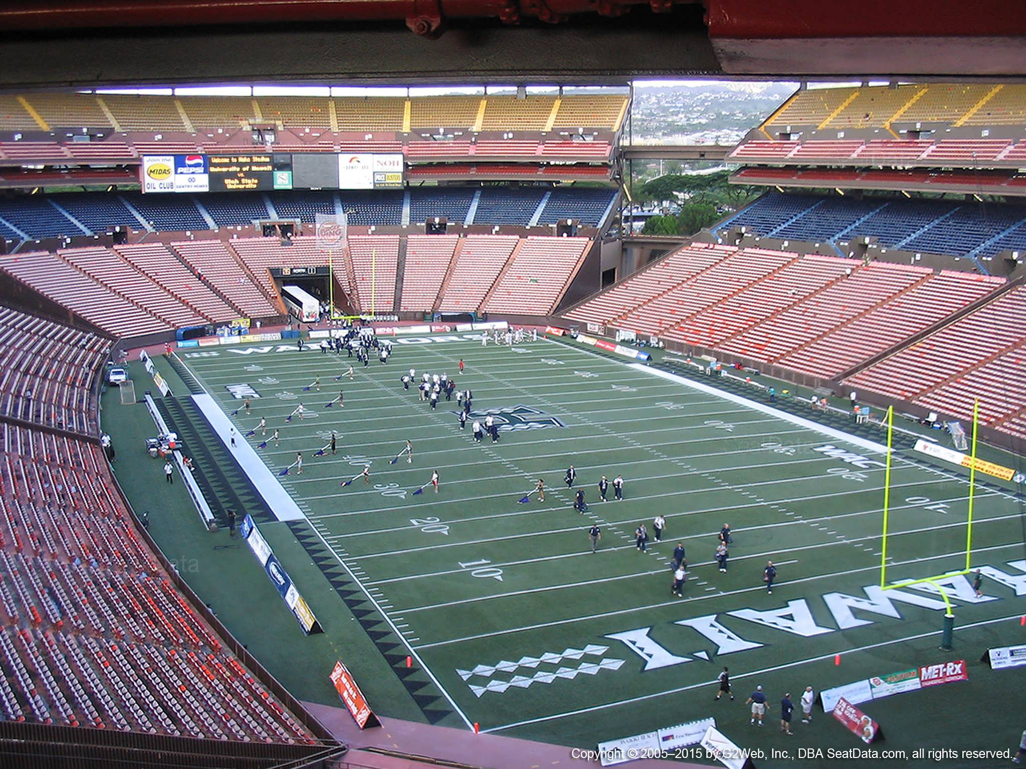 Seat View for Aloha Stadium Brown D