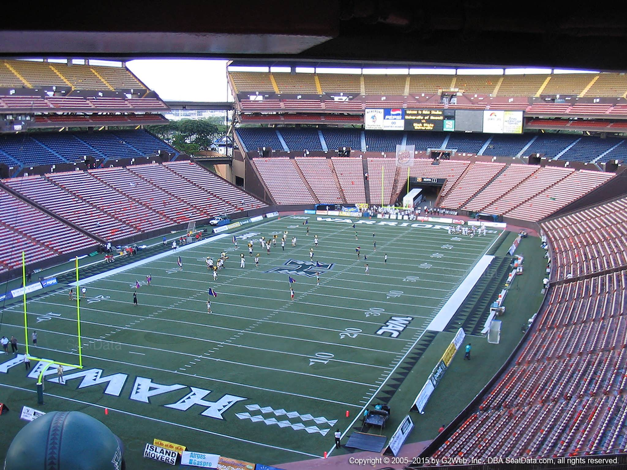 Seat View for Aloha Stadium Brown DD