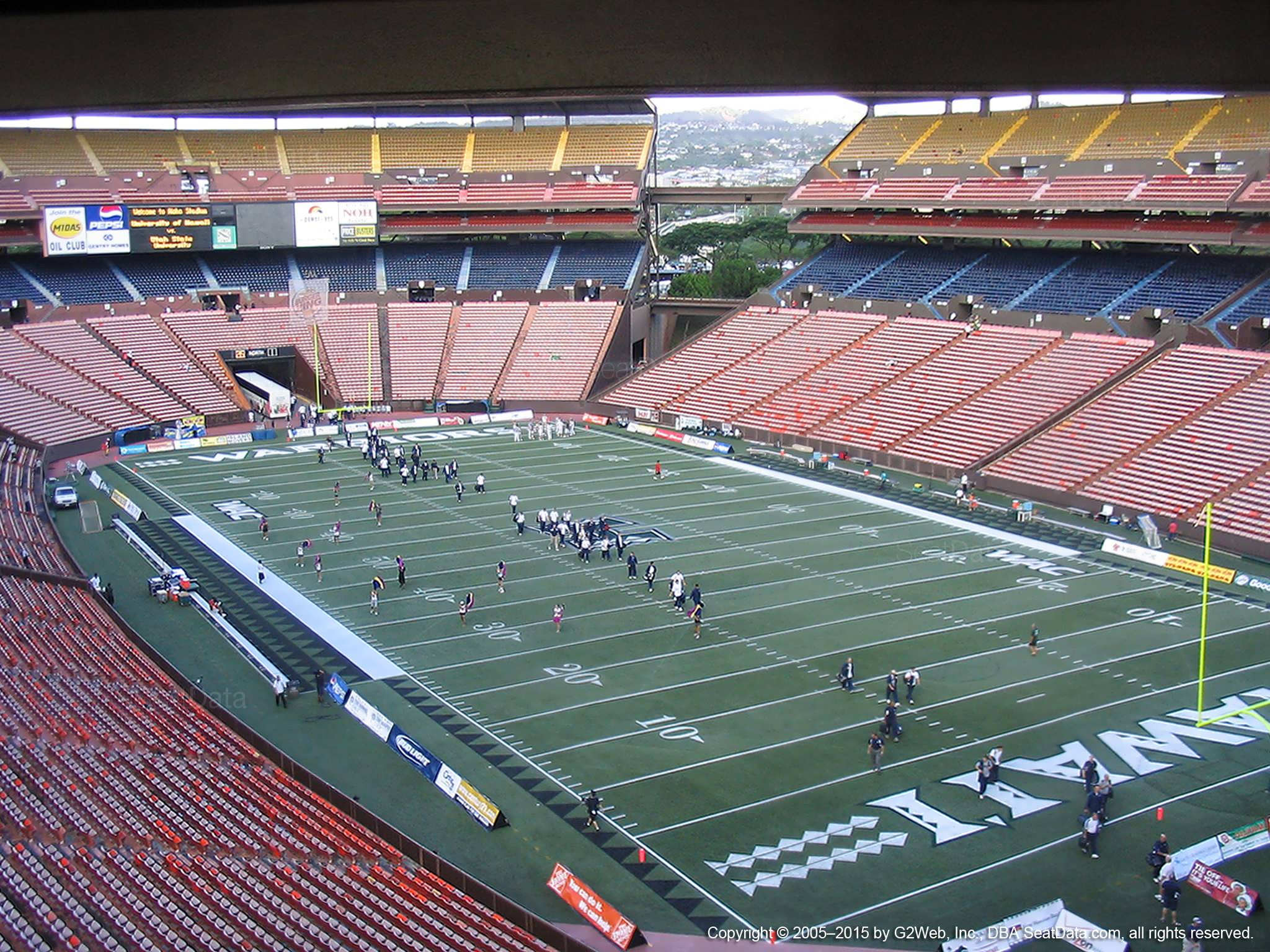 Seat View for Aloha Stadium Brown E