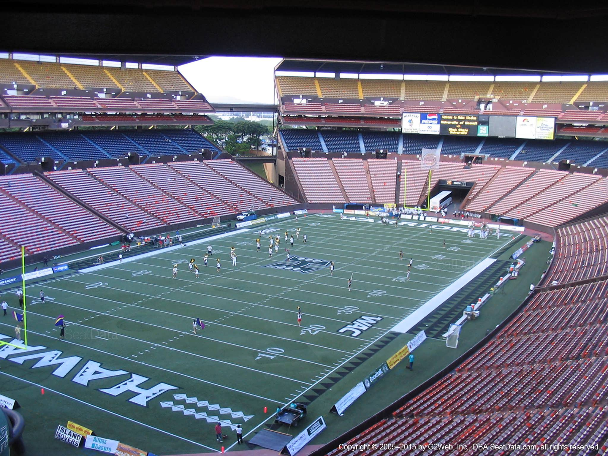 Seat View for Aloha Stadium Brown EE