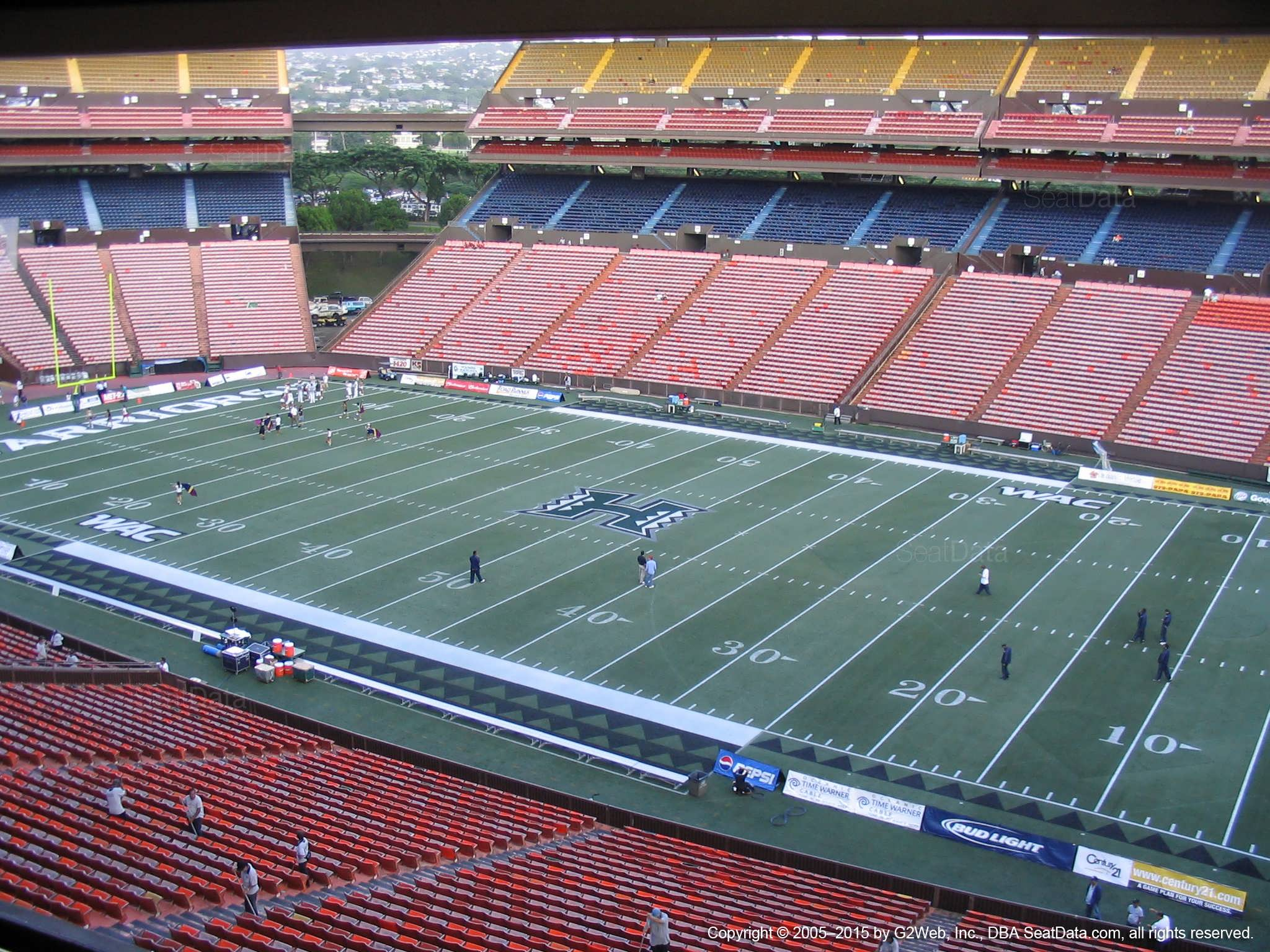 Seat View for Aloha Stadium Brown G