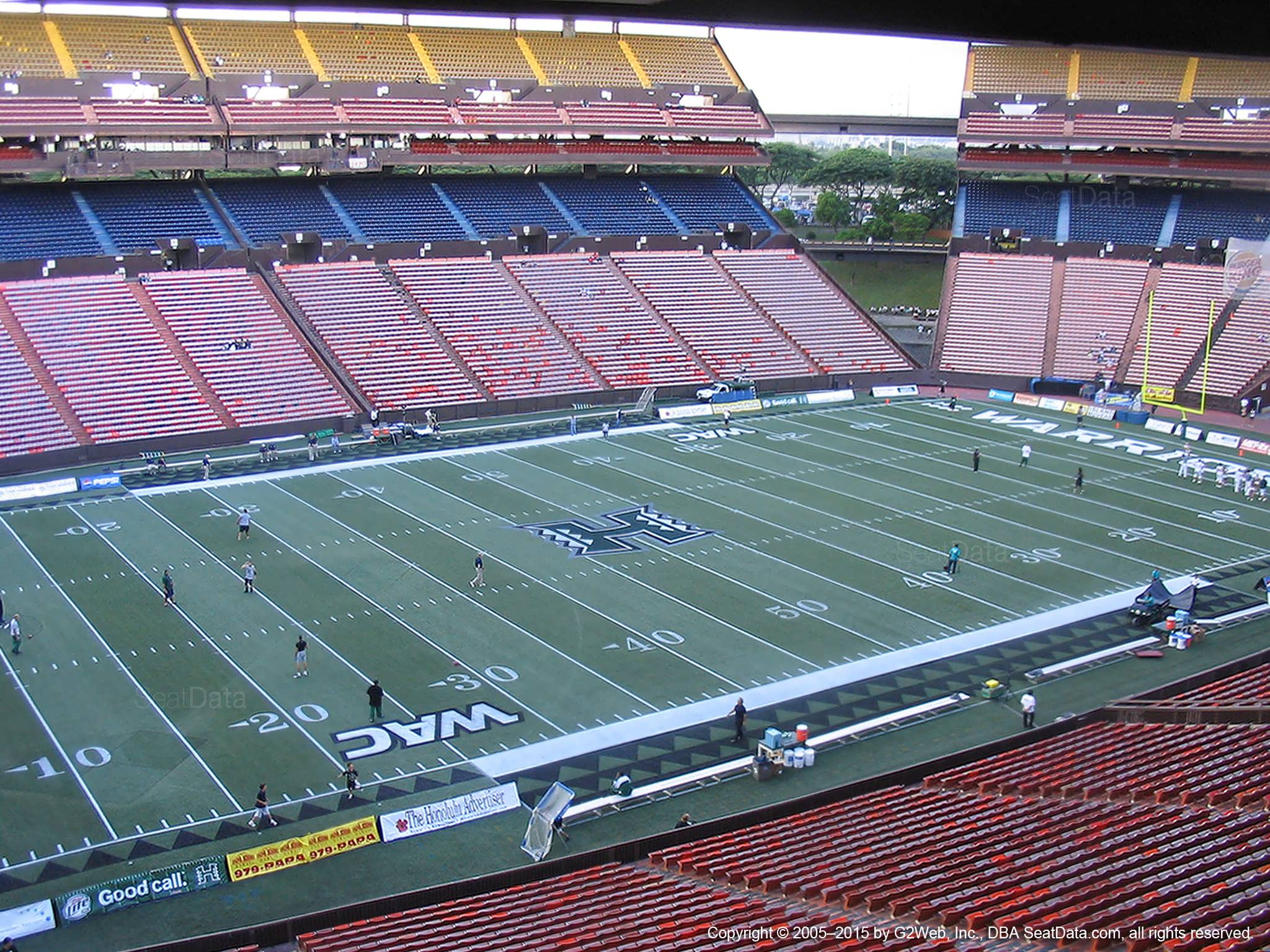 Seat View for Aloha Stadium Brown GG
