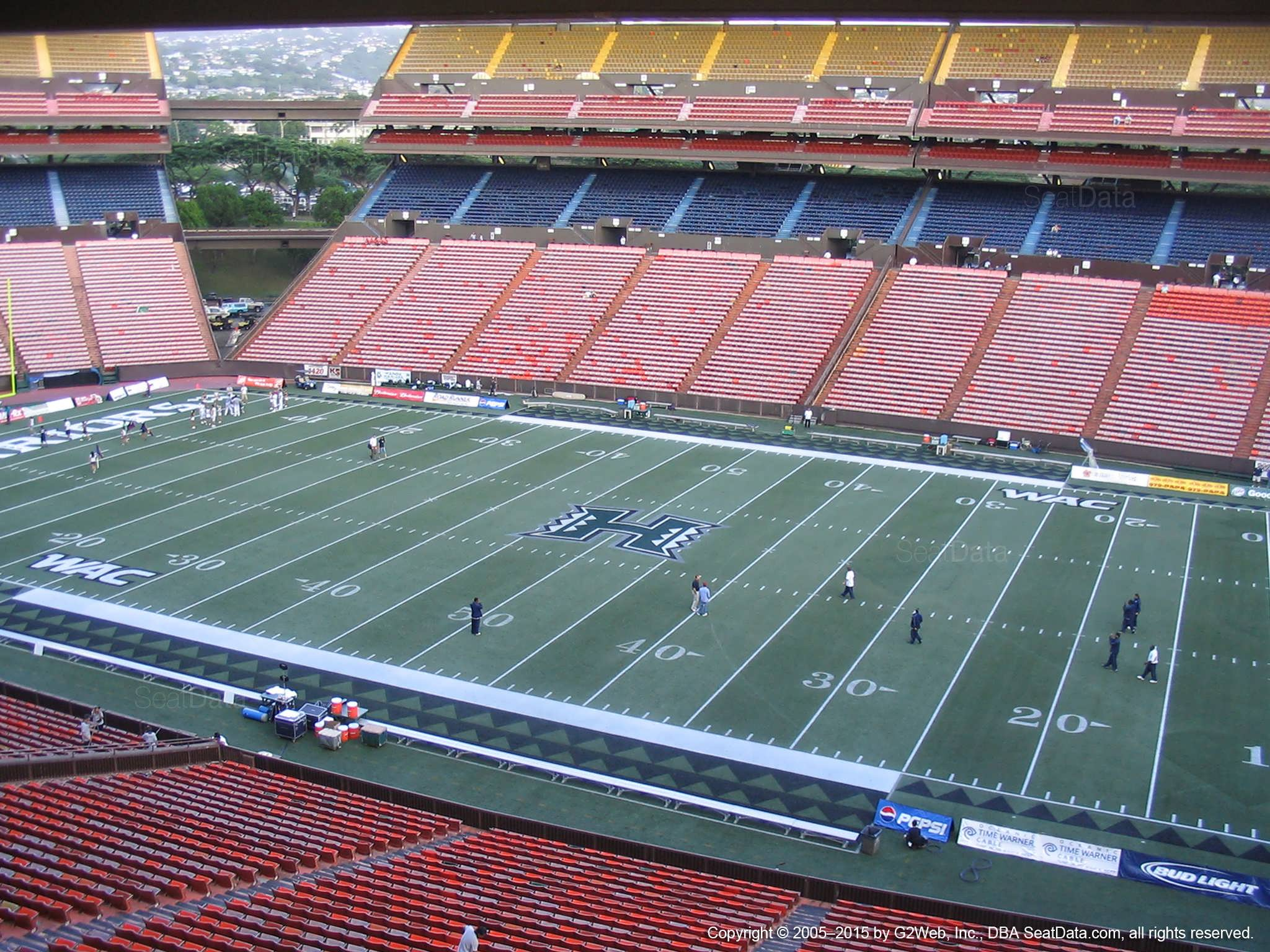 Seat View for Aloha Stadium Brown H