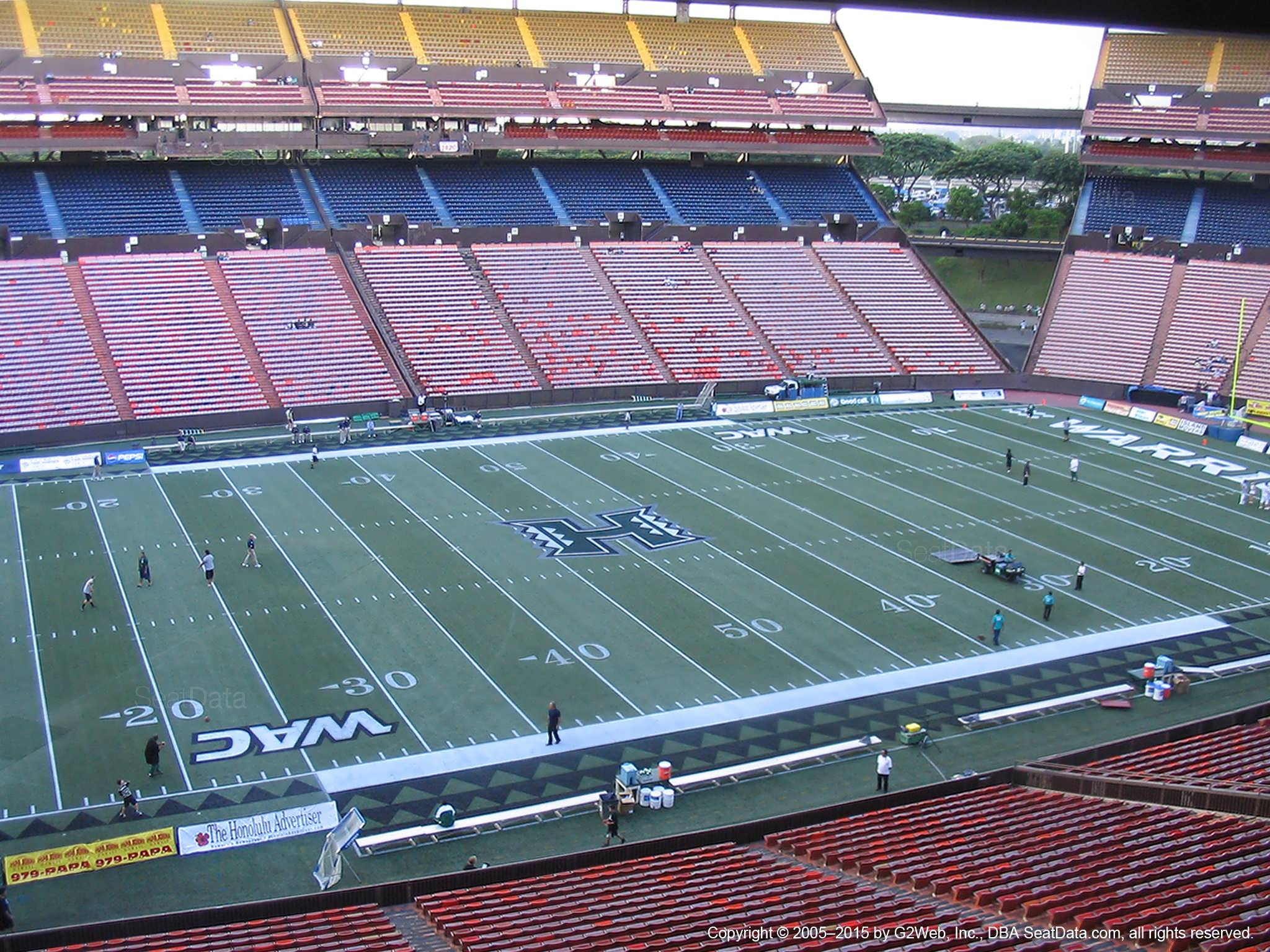Seat View for Aloha Stadium Brown HH