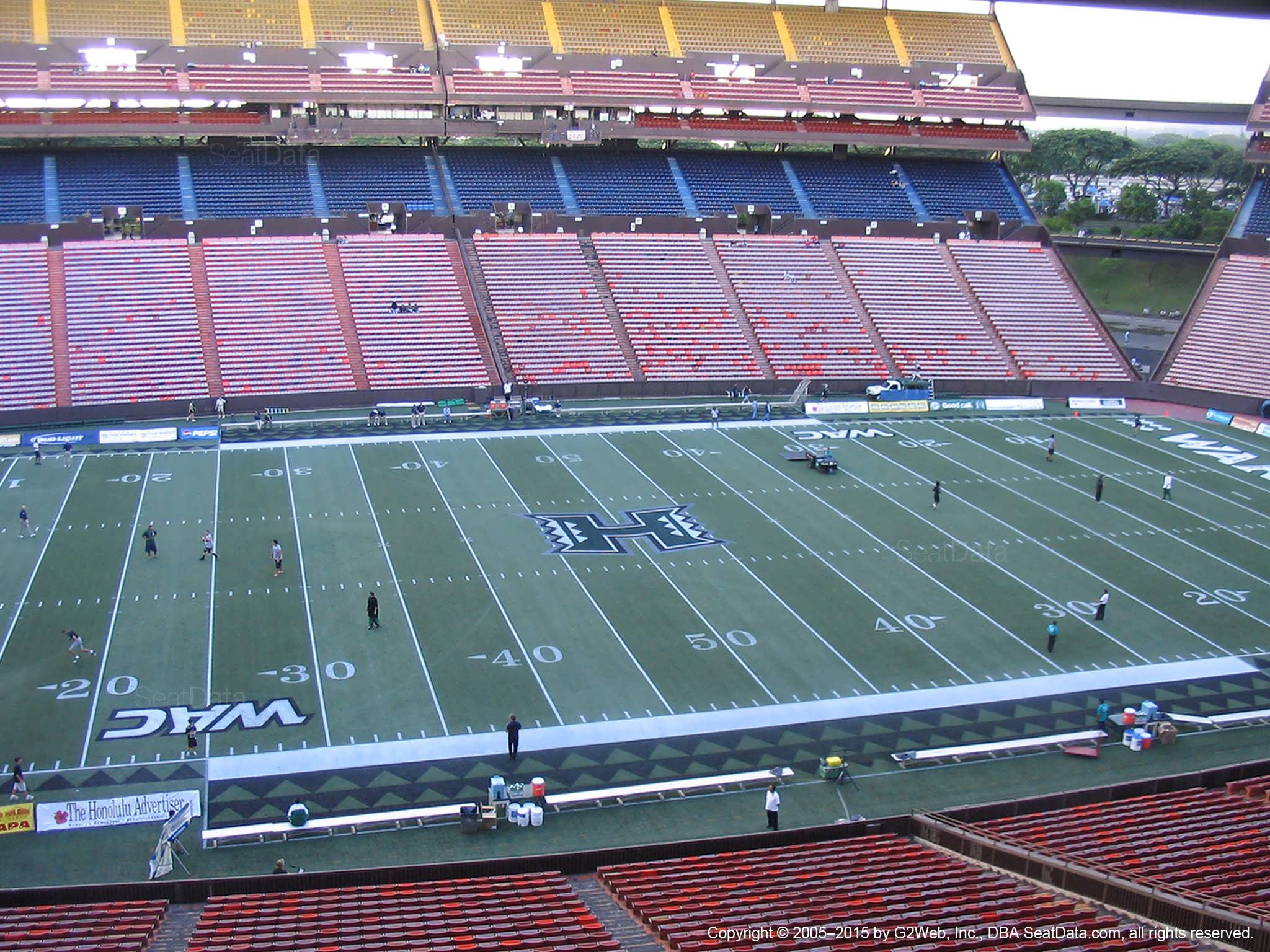 Seat View for Aloha Stadium Brown JJ