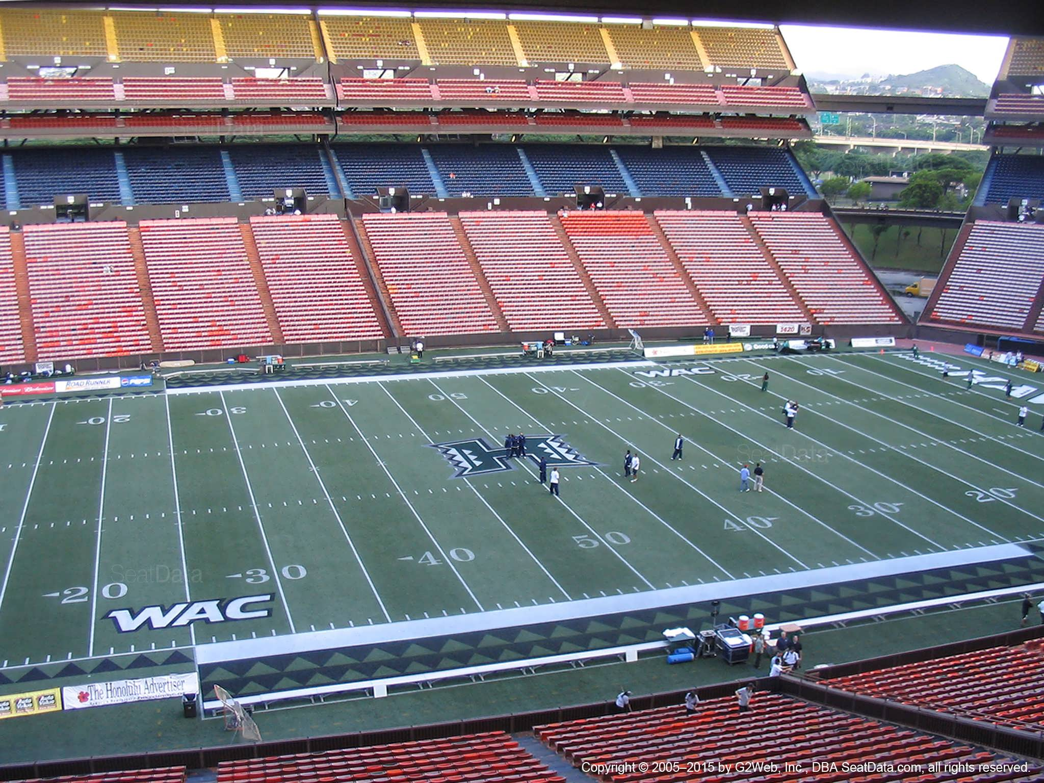 Seat View for Aloha Stadium Brown M
