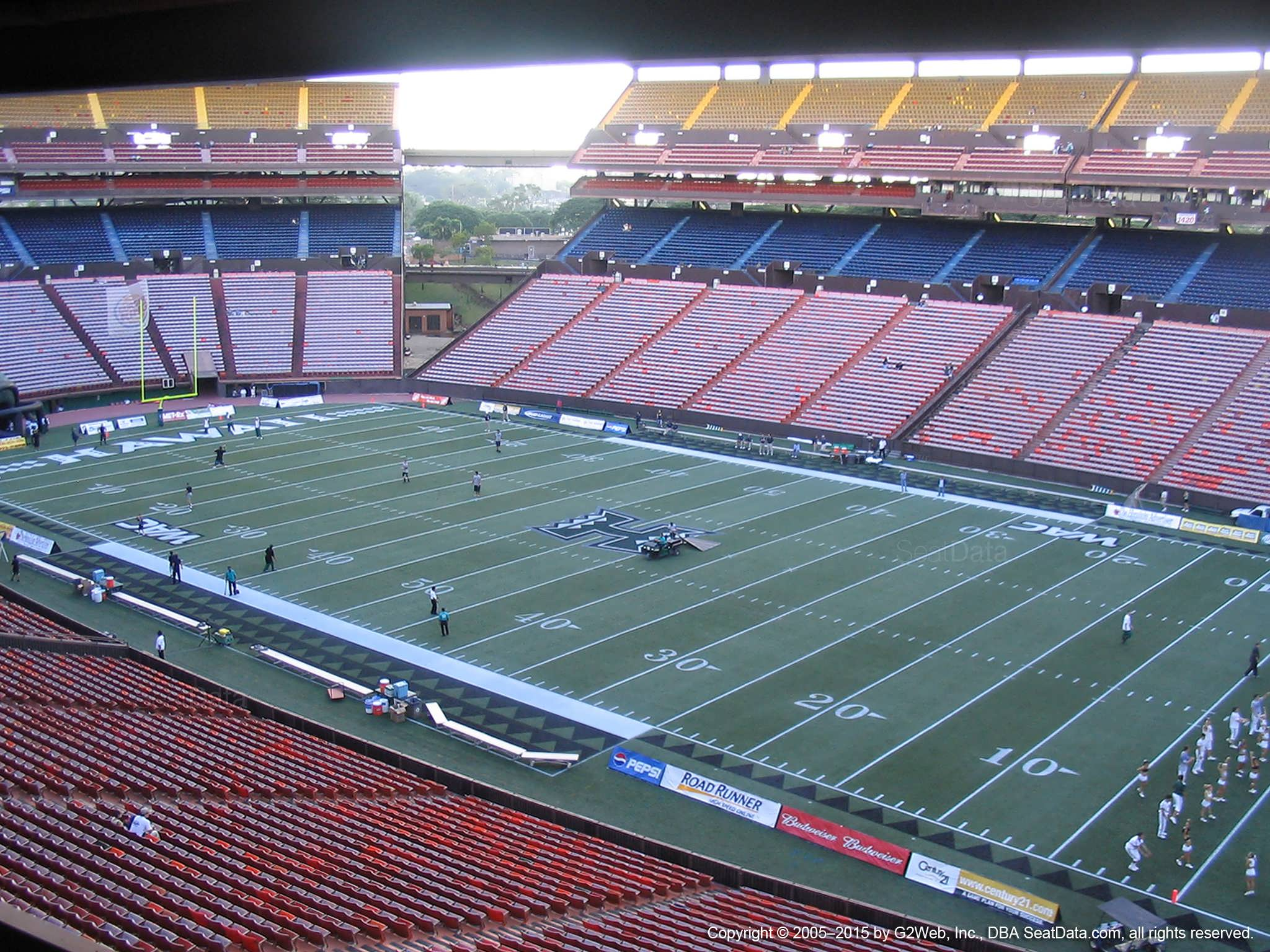 Seat View for Aloha Stadium Brown QQ