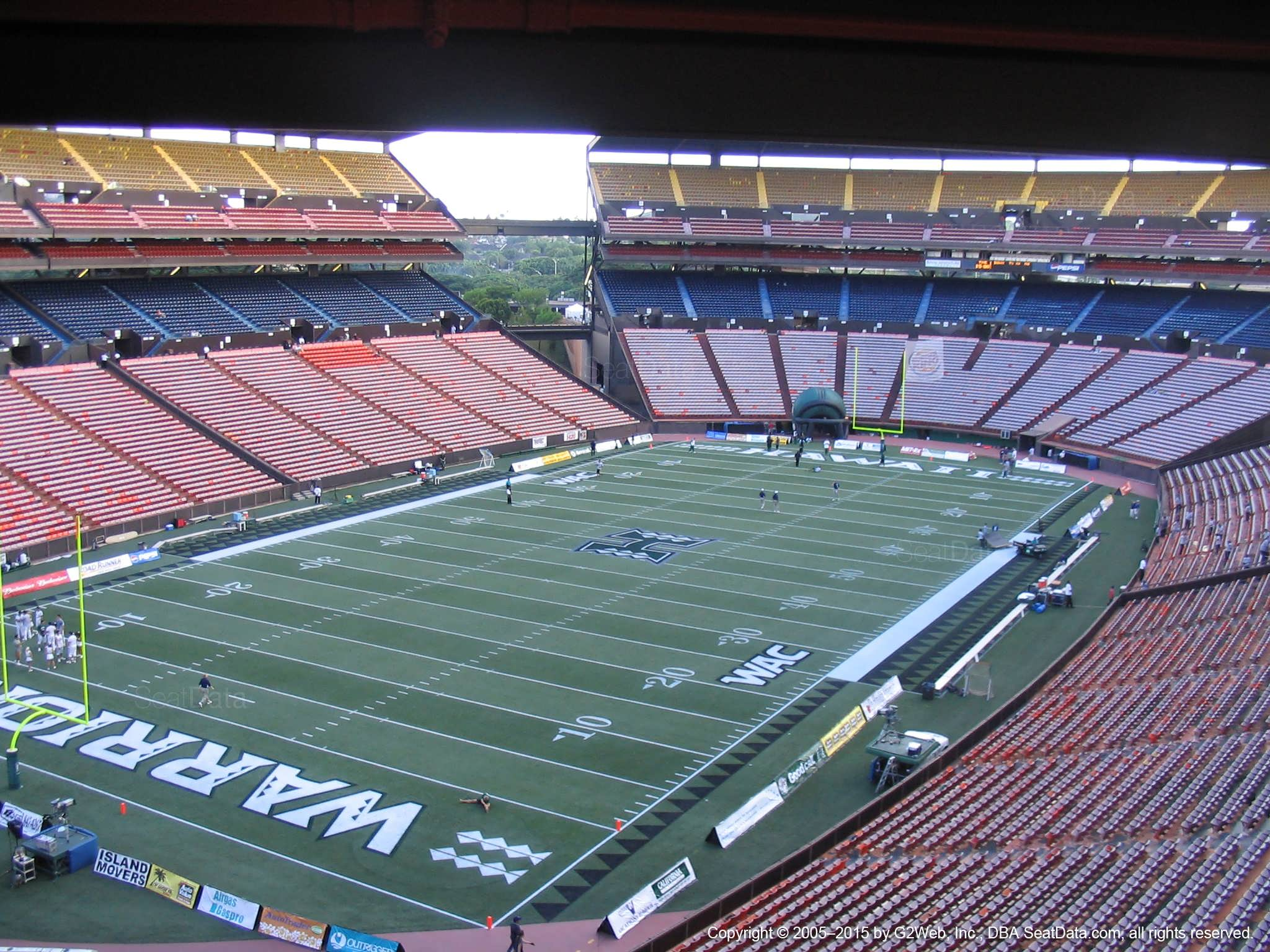 Seat View for Aloha Stadium Brown R