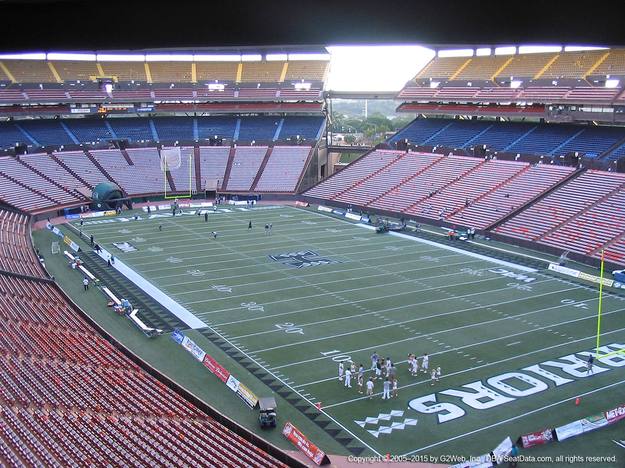 Seat View for Aloha Stadium Brown RR