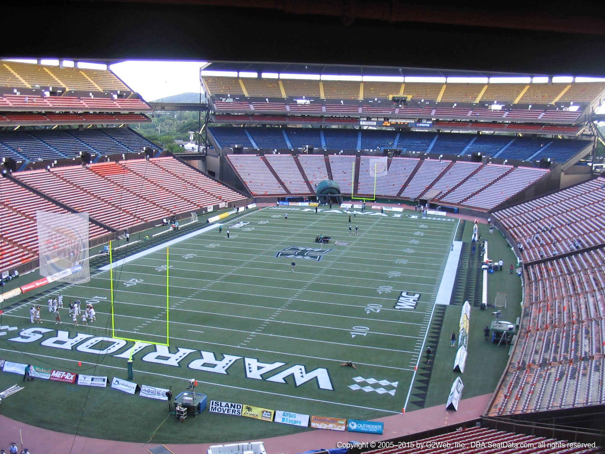 Seat View for Aloha Stadium Brown T