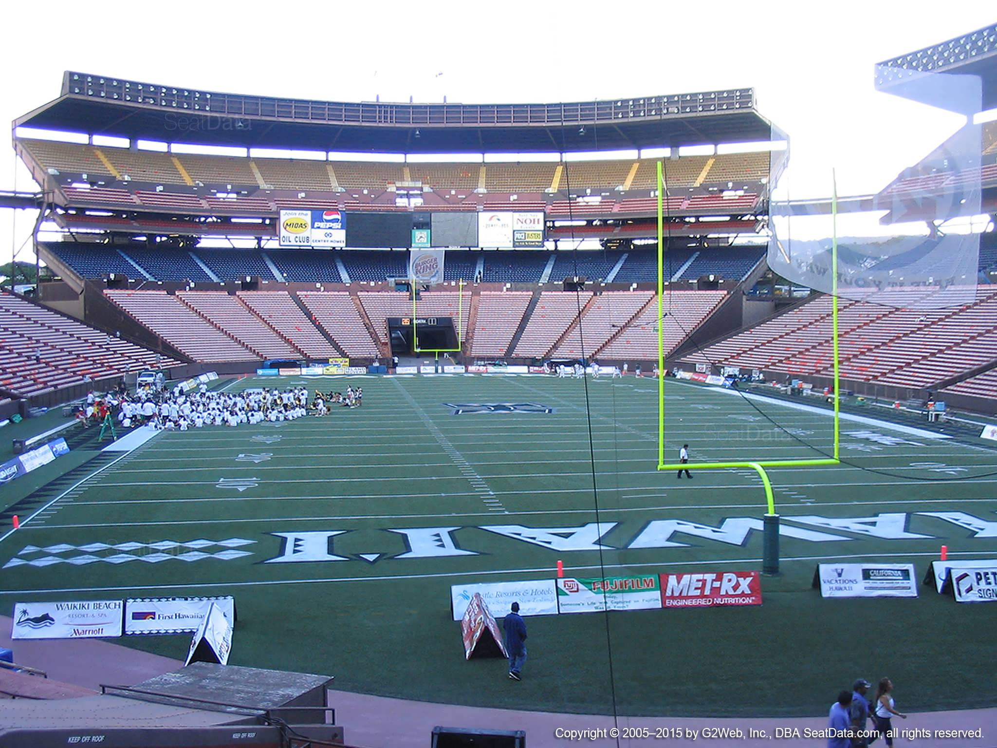 Seat View for Aloha Stadium Orange B