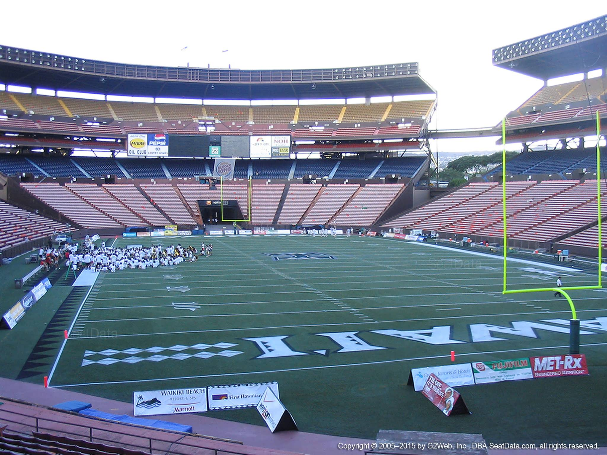 Seat View for Aloha Stadium Orange C