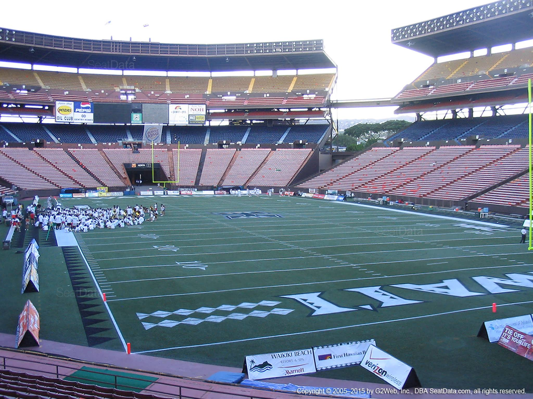 Seat View for Aloha Stadium Orange D