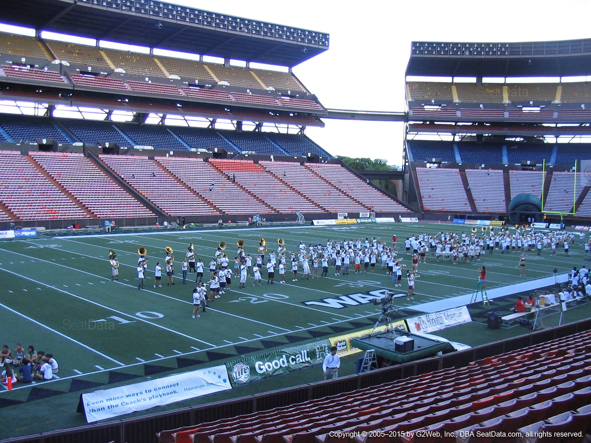 Seat View for Aloha Stadium Orange Q