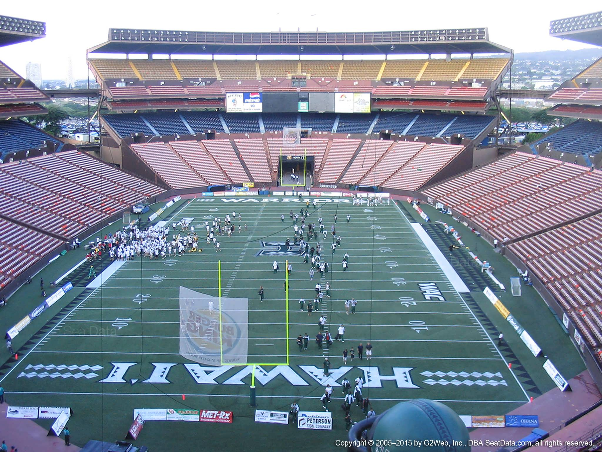Aloha Stadium Red AA - RateYourSeats.com