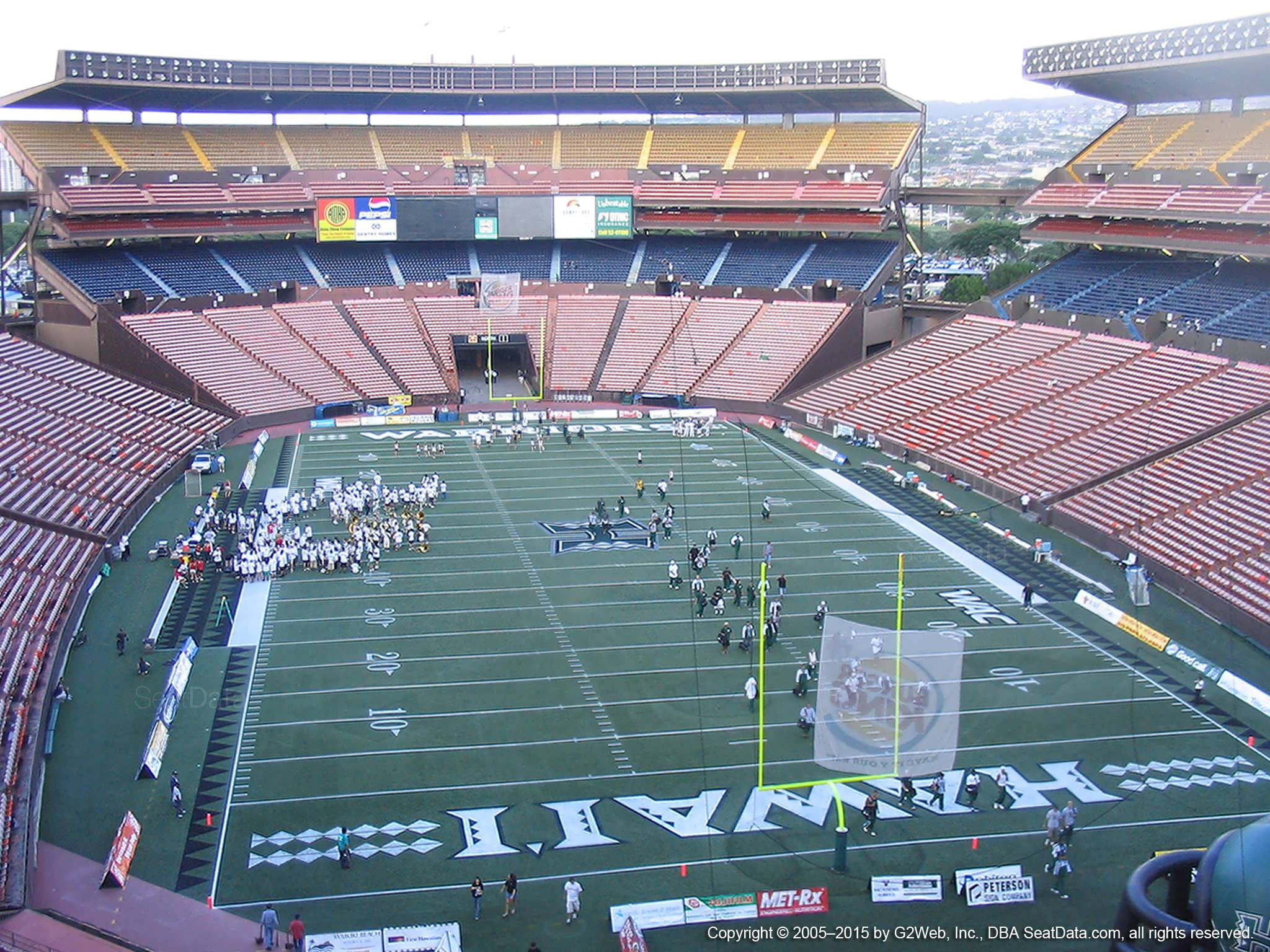 Seat View for Aloha Stadium Red B